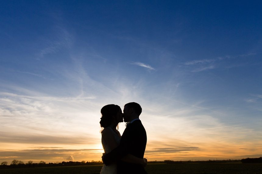 Winter Wedding Tips and Advice Sunset photo