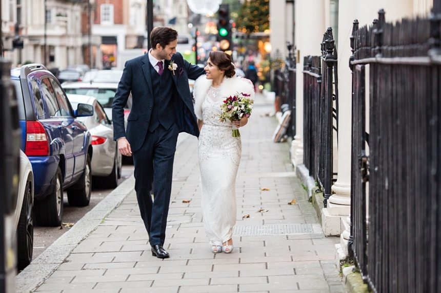 Winter Wedding Tips and Advice Bride and Groom in London