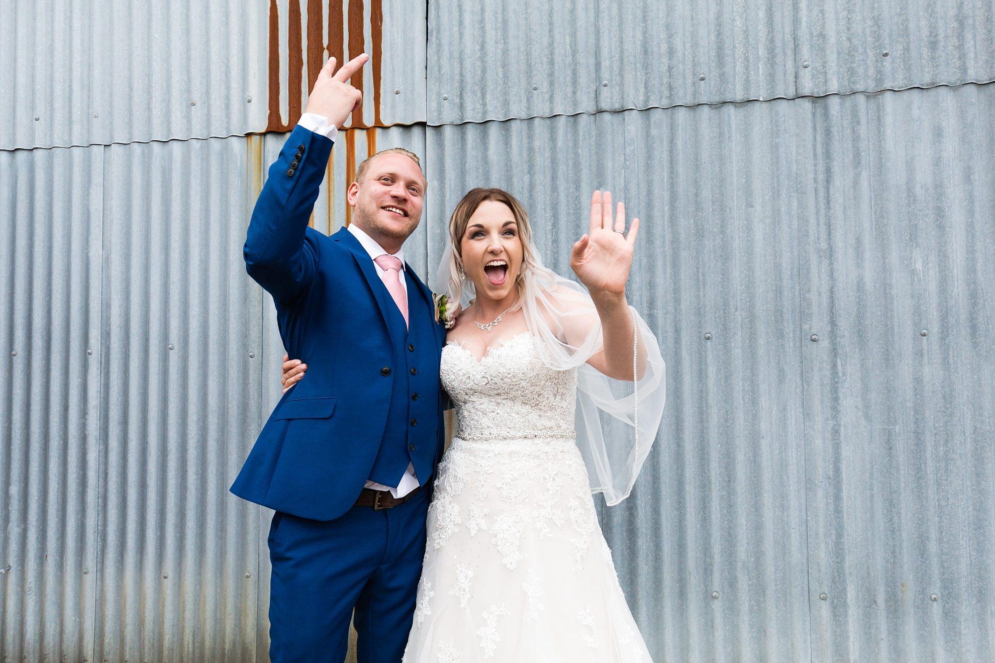 Barn Wedding Tips Funny Photo Tin Background