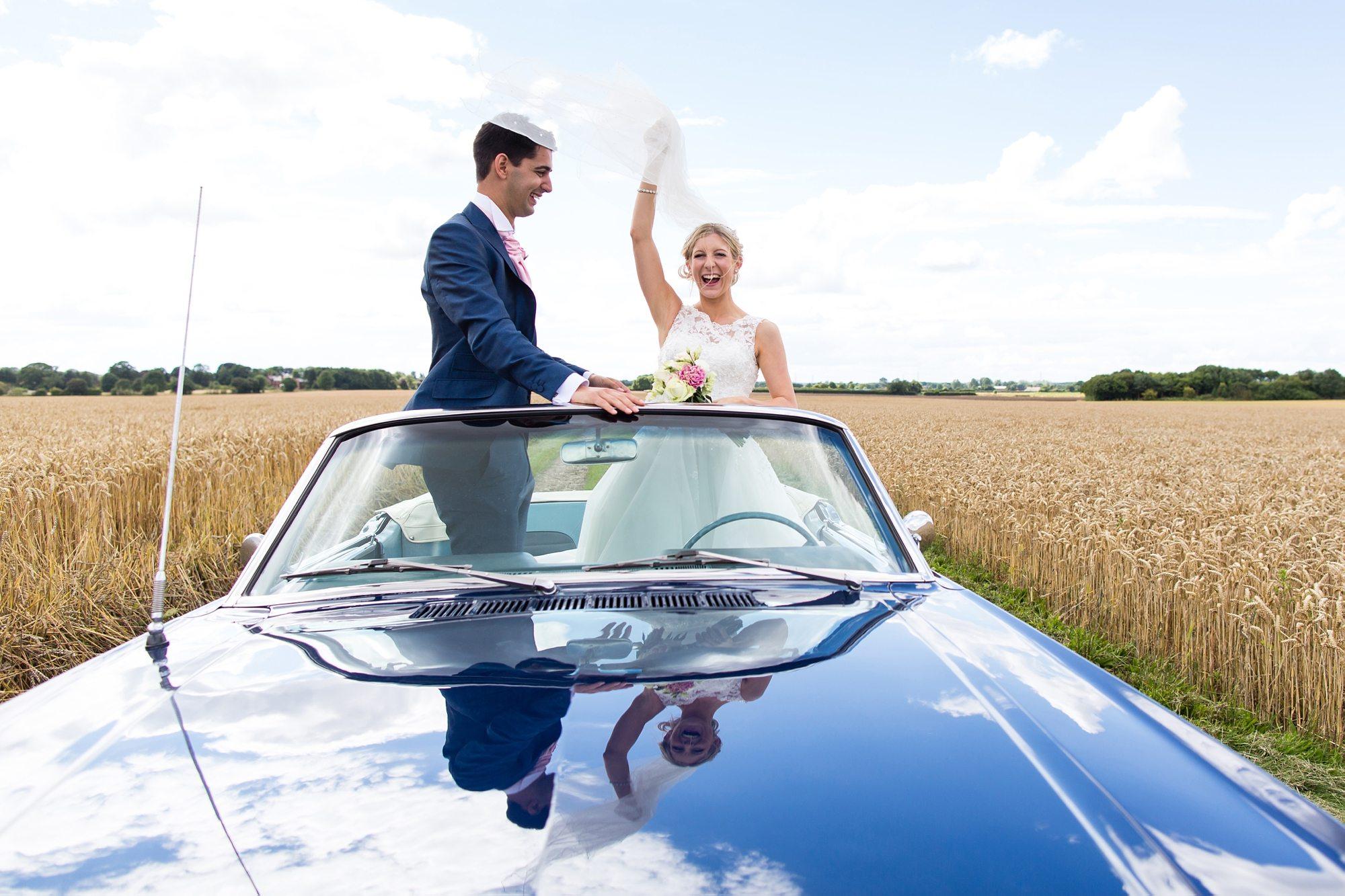 Barmbyfield Barn Wedding Tips Bride in Mustang Veil