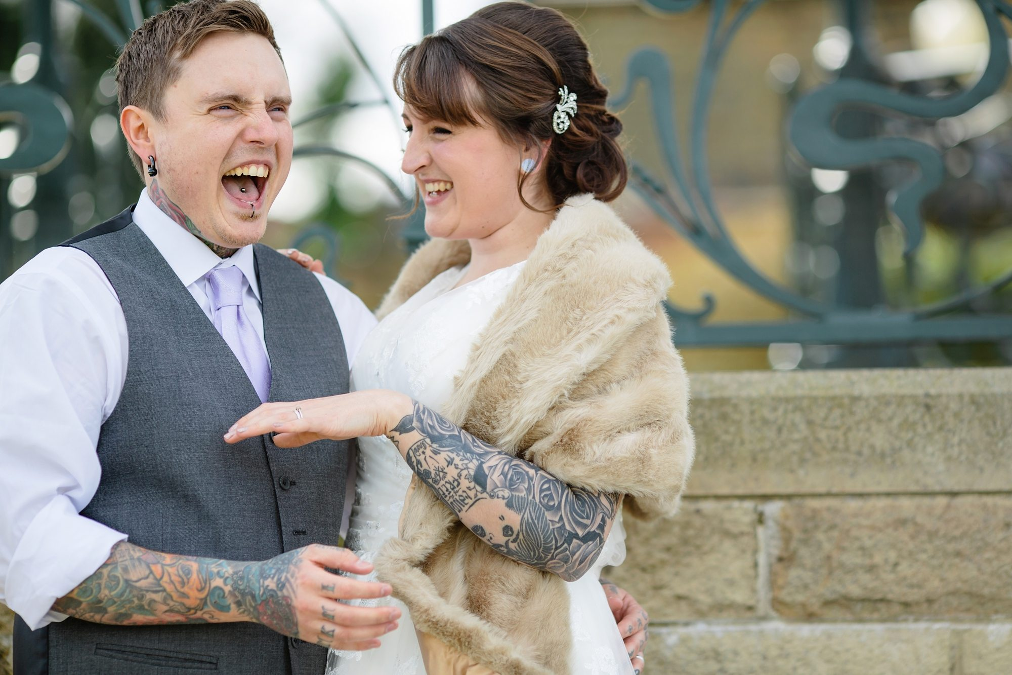 Tattoo Tips For Your Wedding Couple Laughing Fur Stole