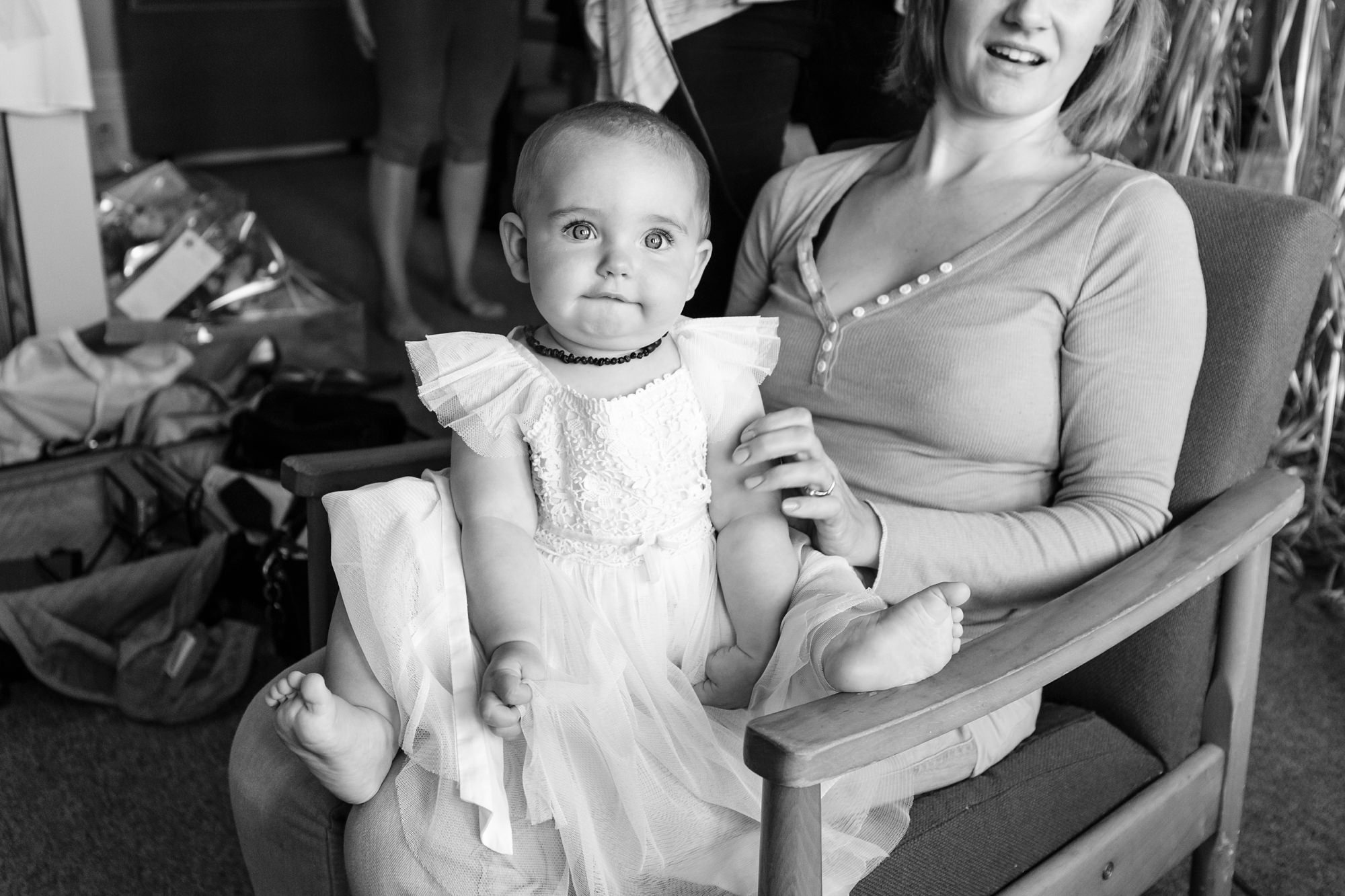 Baby flower girl Derwentwater Independent Hostel Wedding