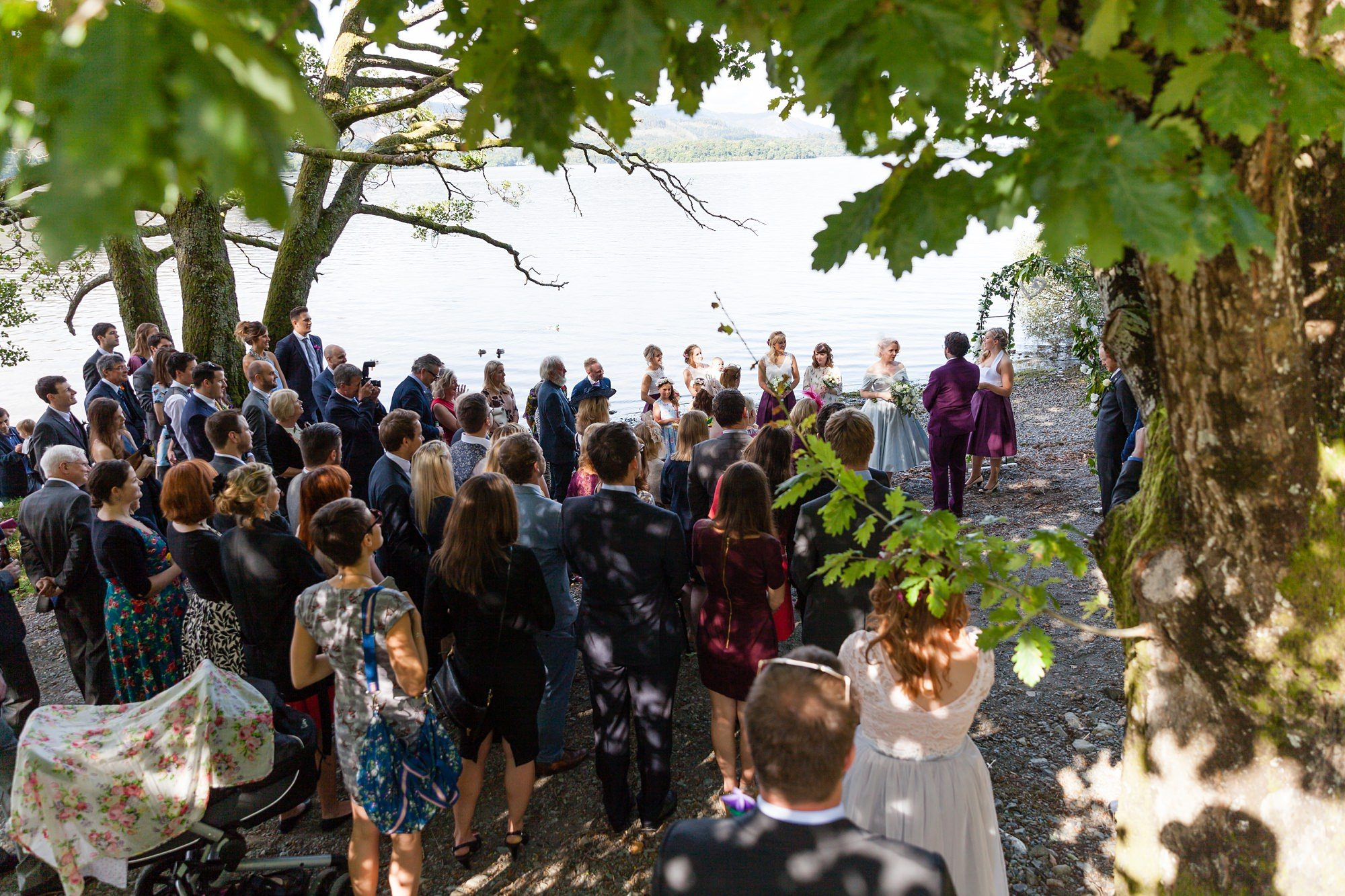 Wedding ceremony by Derwentwater lake