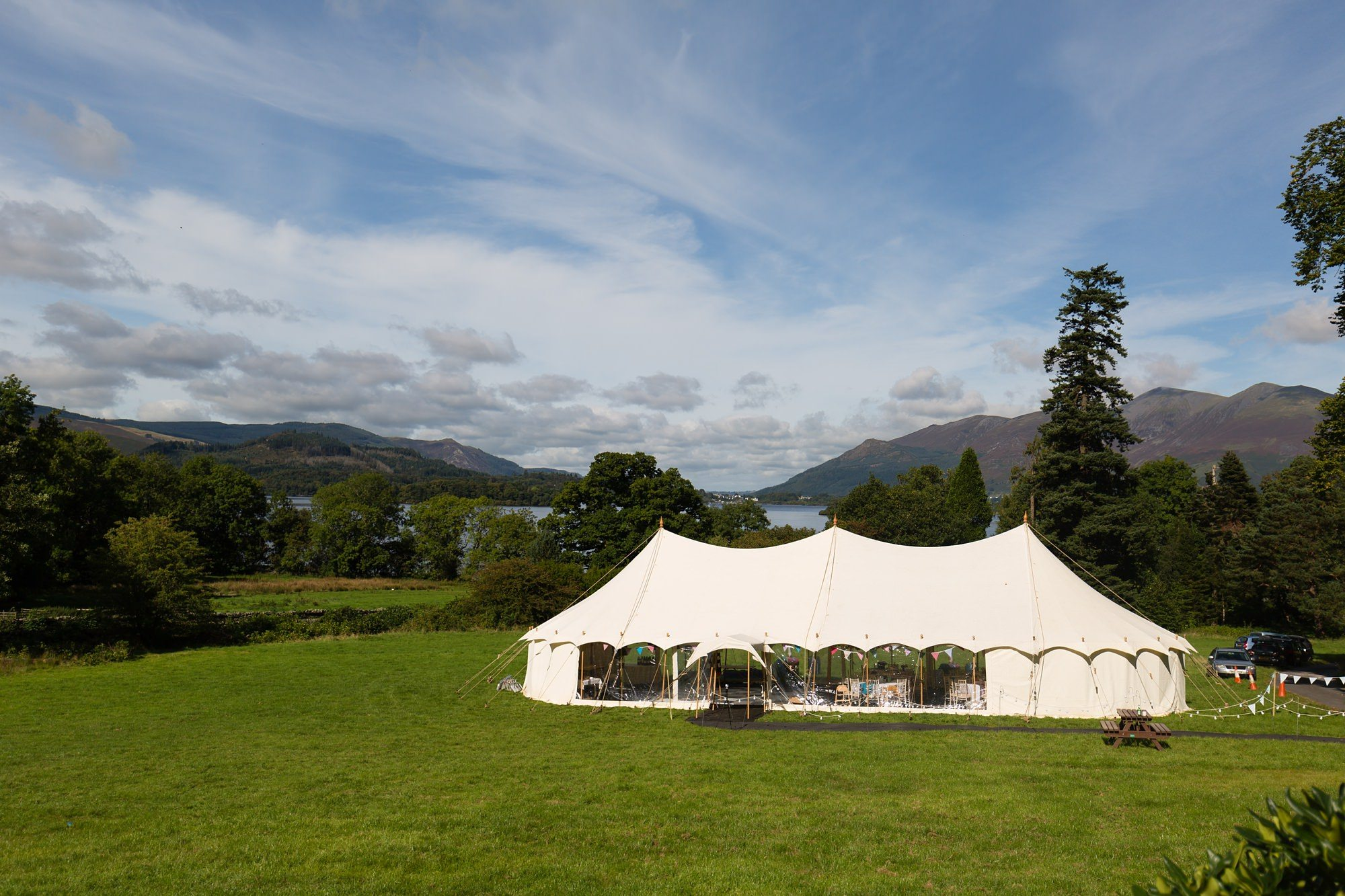 Derwentwater Independent Hostel Wedding Marquee