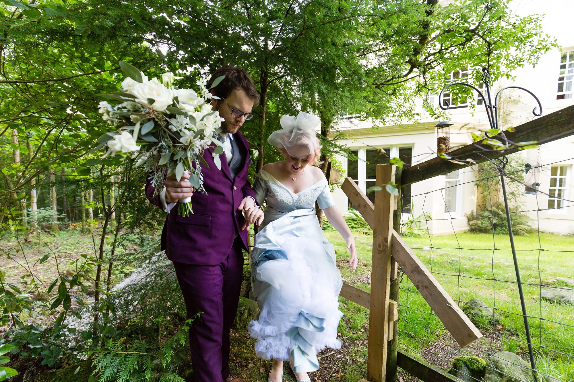 Bride & groom Derwentwater Independent Hostel Wedding