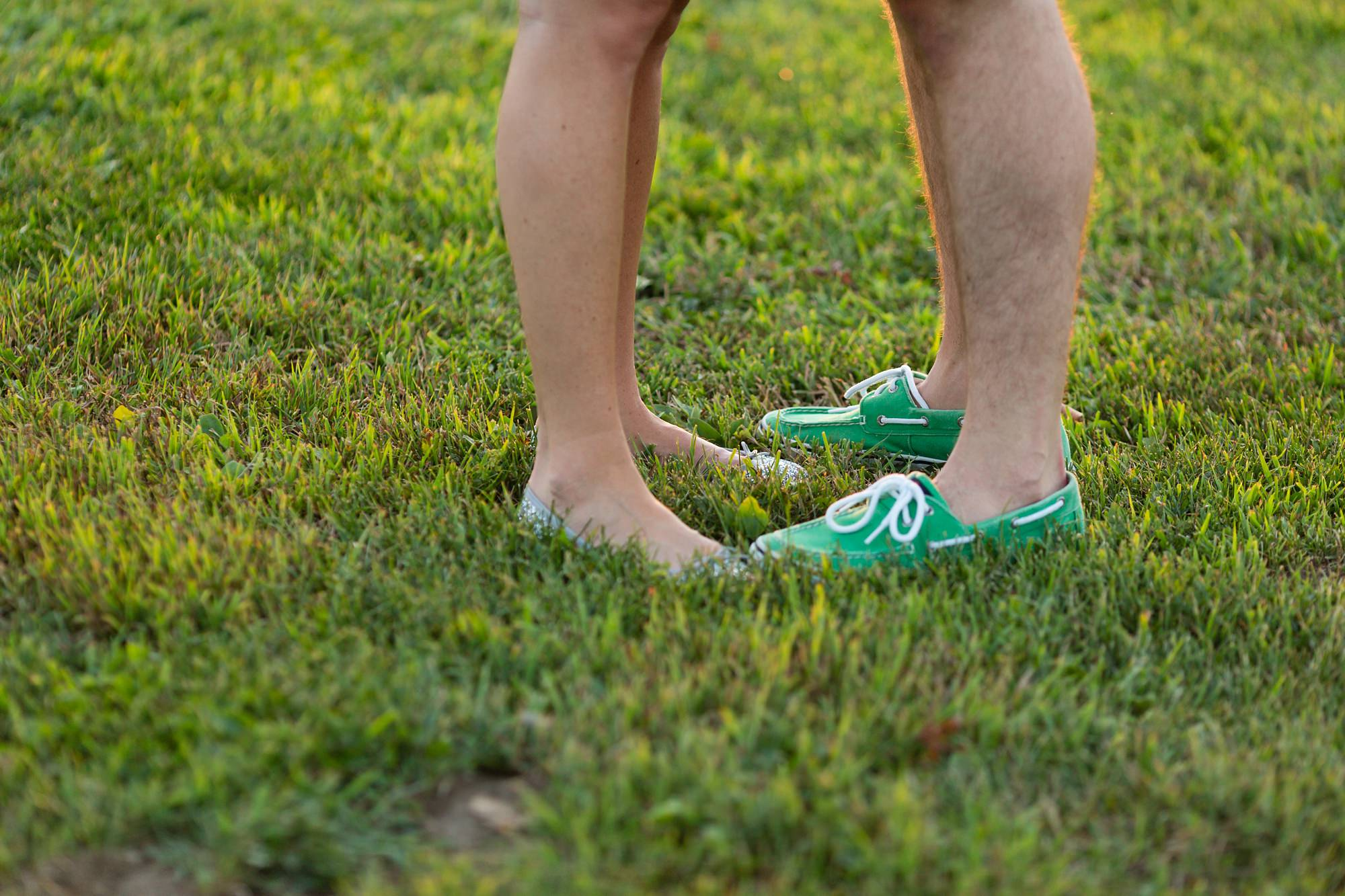 Couple's feet in the grass