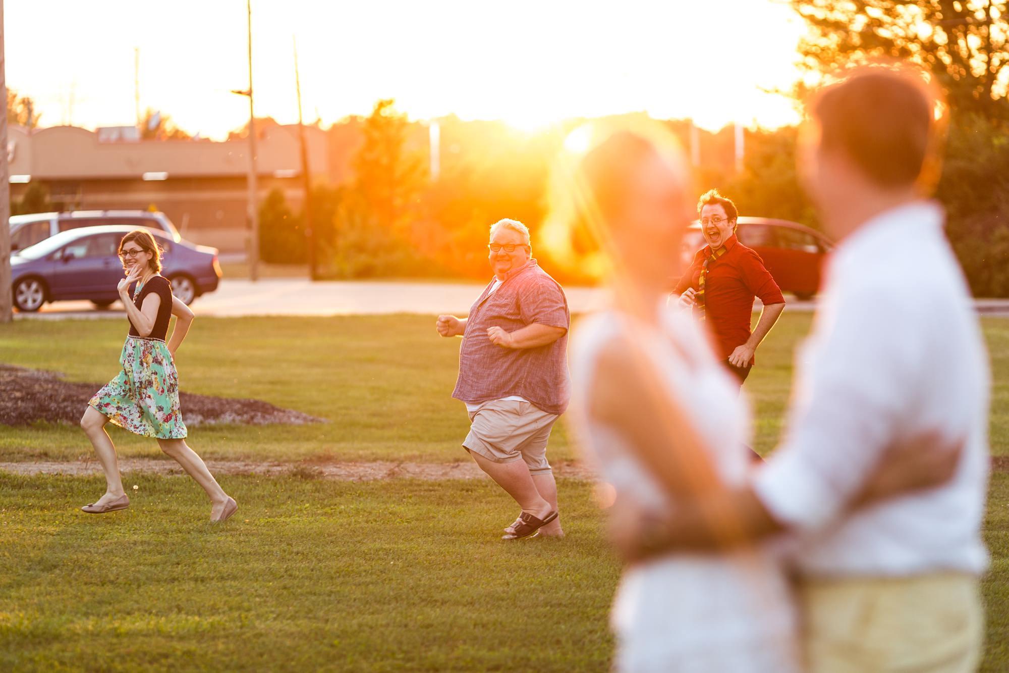 Funny wedding photo destination wedding in Fort Wayne Indiana