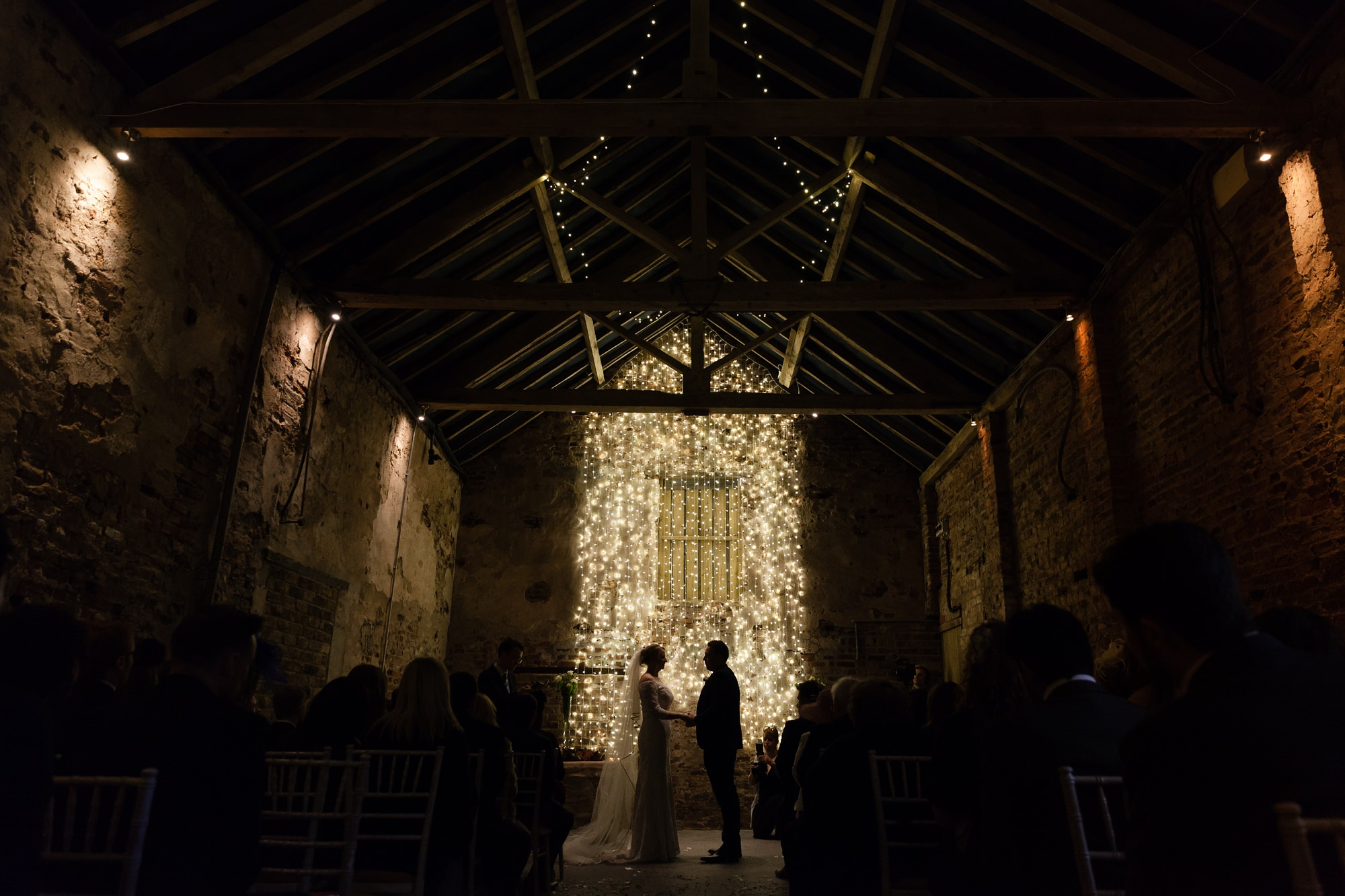 Bride & Groom at ceremony at The Normans in York