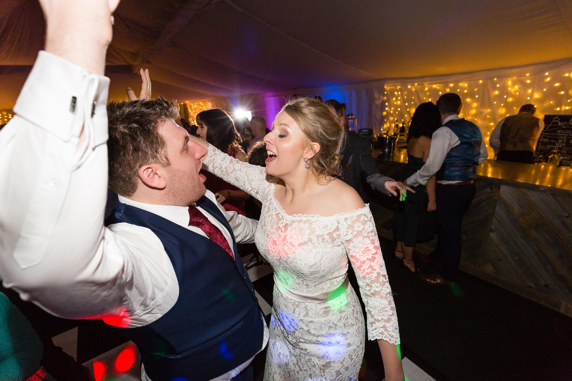 Fun wedding photography in York dance floor photograph