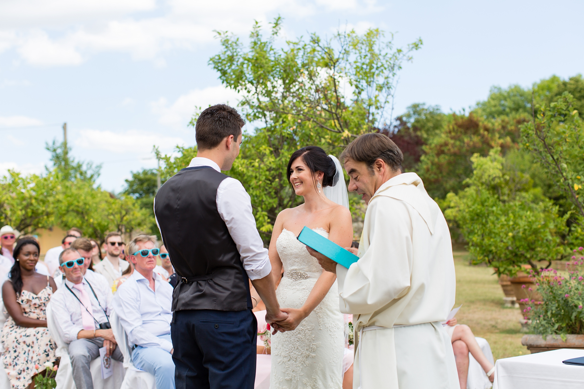 Villa Catignano Siena Wedding Photography outdoor ceremony