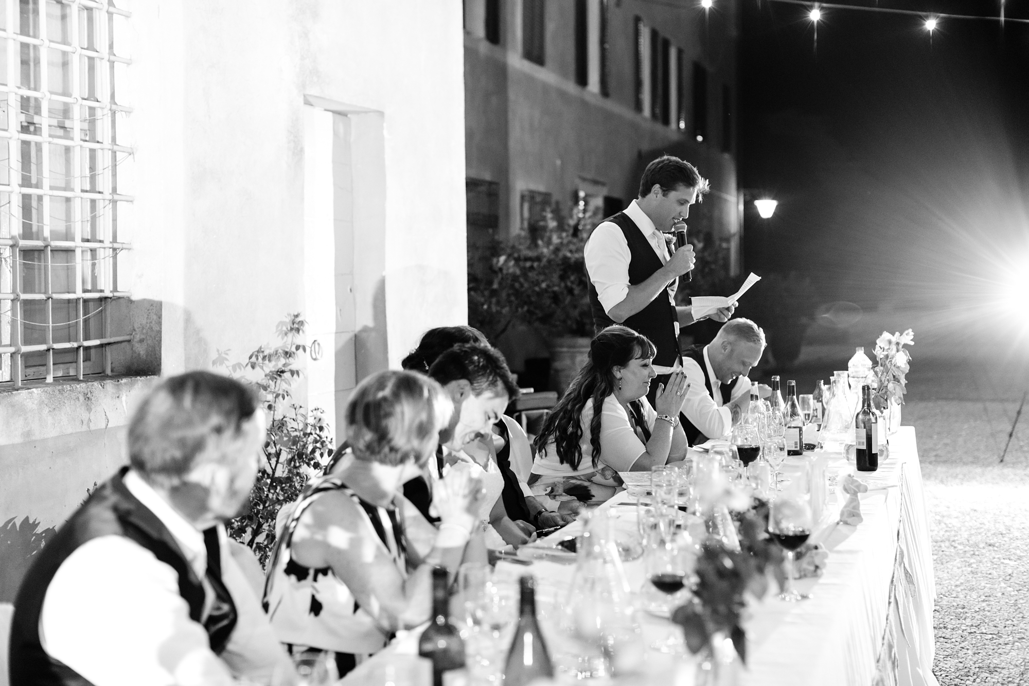 Villa Catignano Siena Wedding Photography best man speech