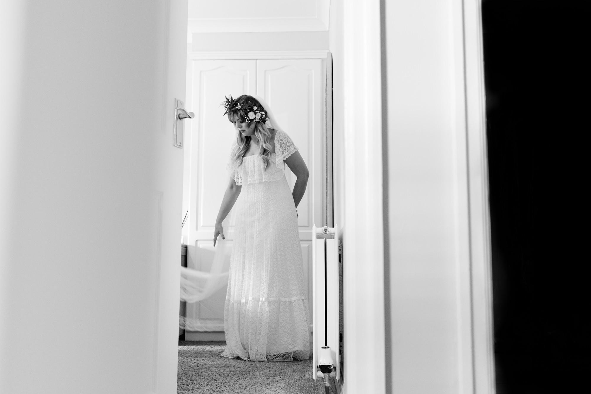 Villa farm wedding photography bride getting ready