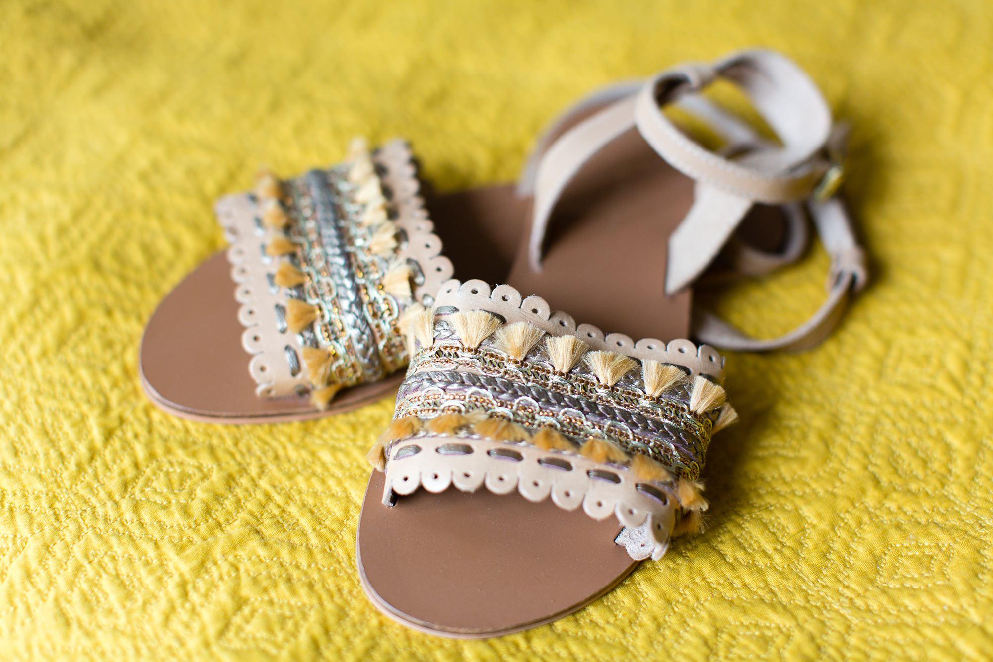 Villa farm wedding photography boho wedding sandals