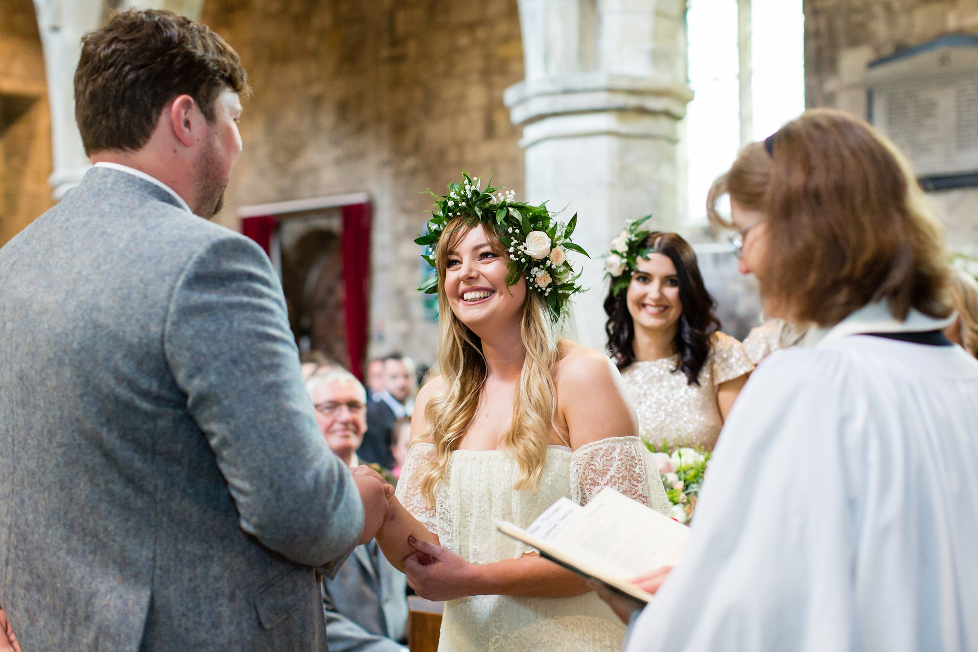 Villa farm wedding photography getting married at St. Wilfred's church in Brayton