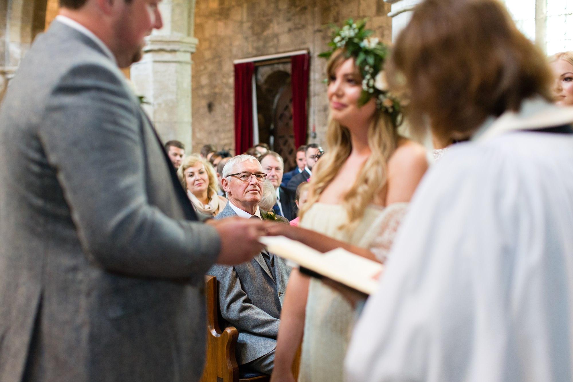 Villa farm wedding photography St. Wilfred's church in Brayton Ceremony