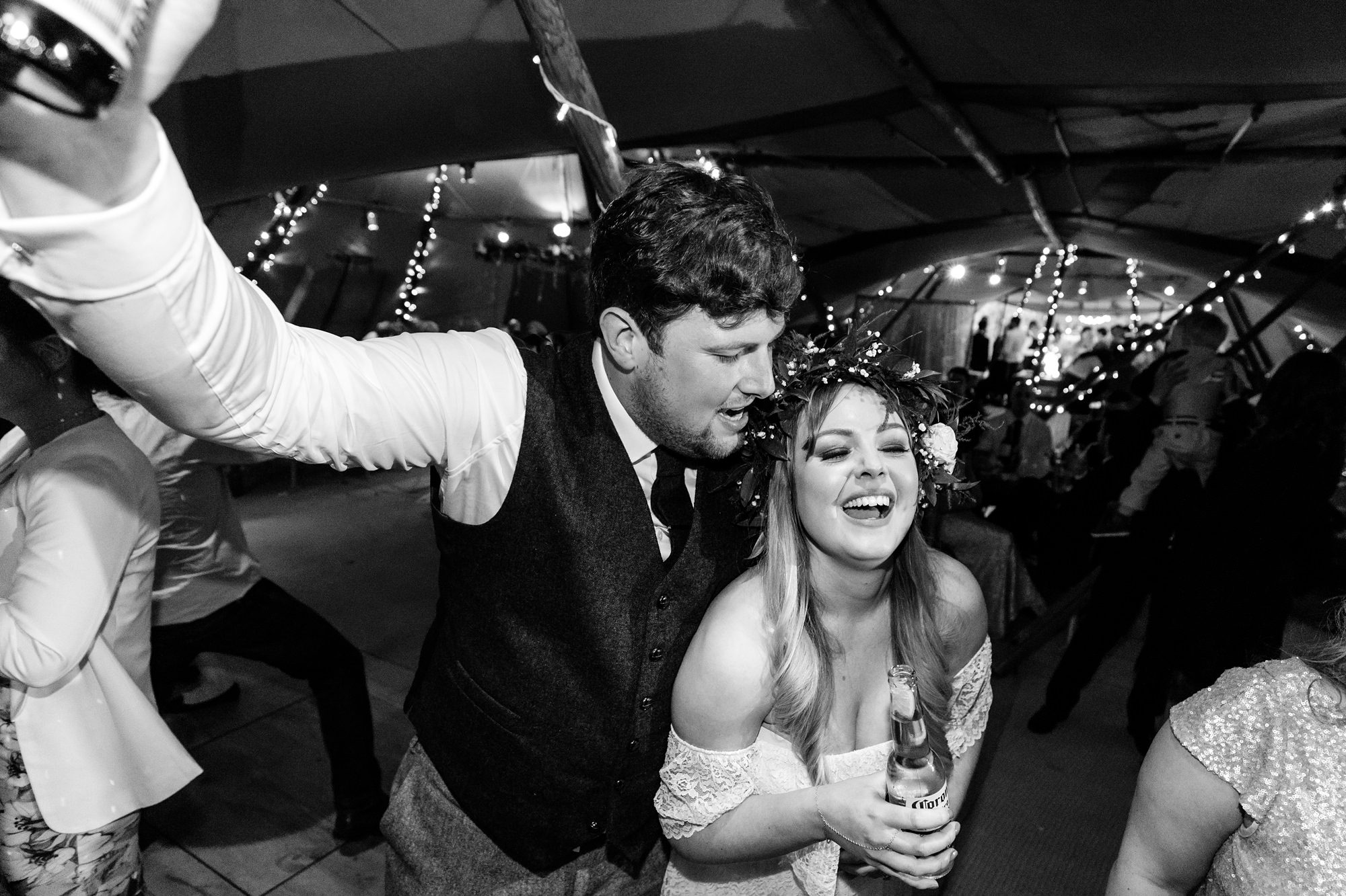 Villa farm wedding photography bride and groom first dance
