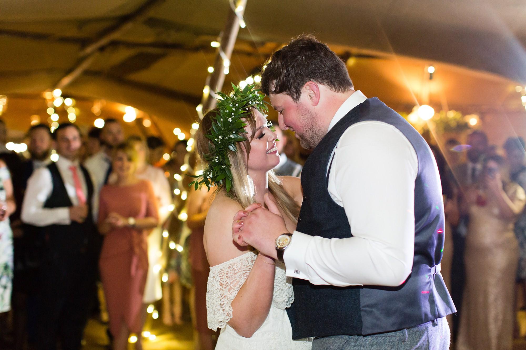 Villa farm wedding photography first dance