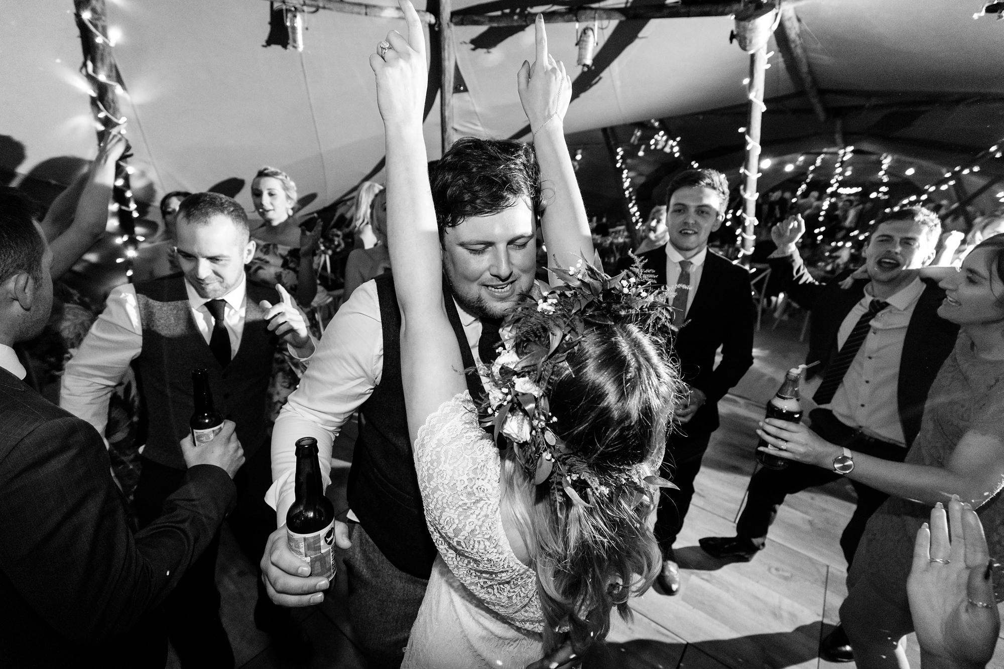 Villa farm wedding photography bride & groom dance