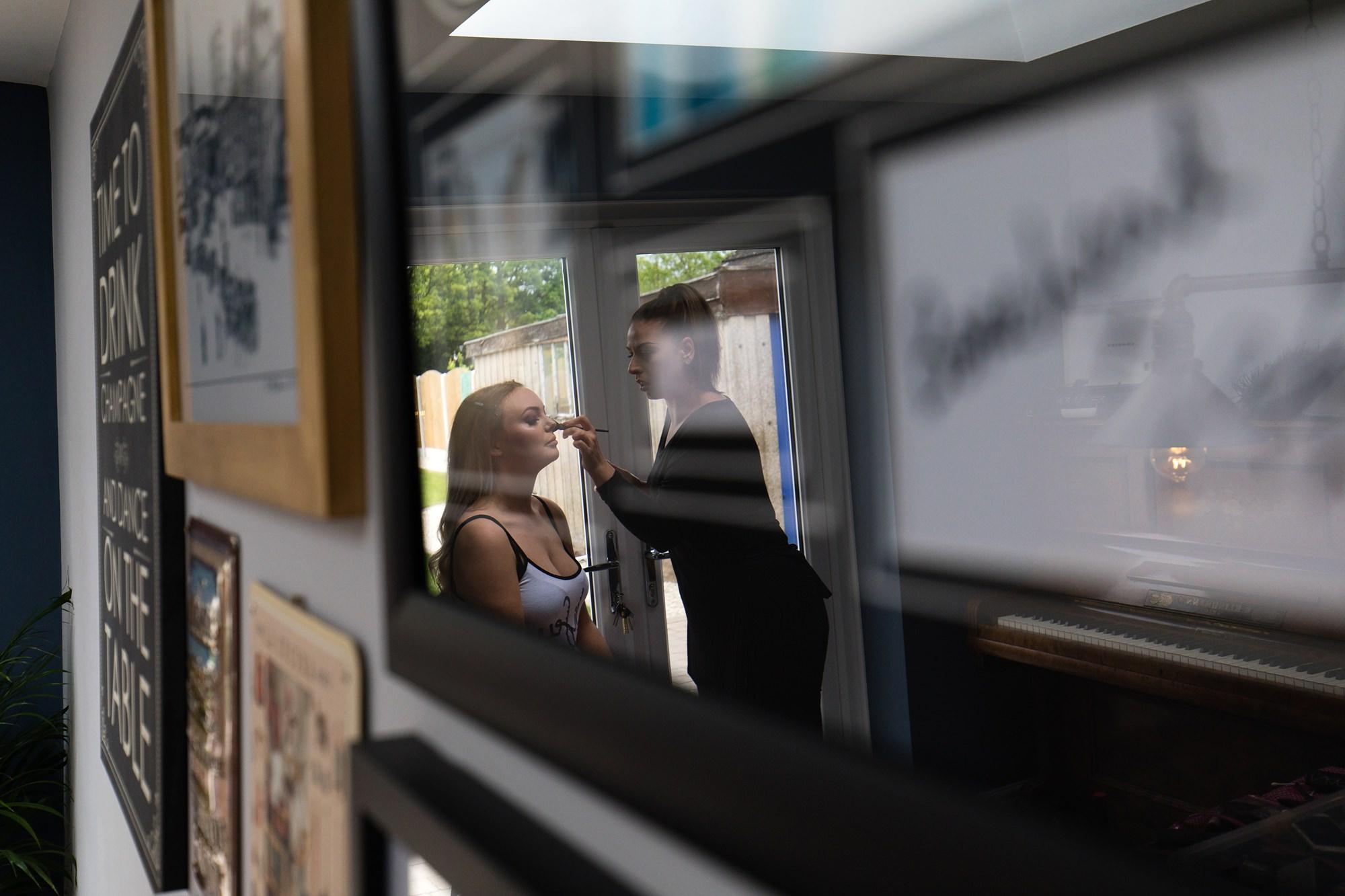 Villa farm wedding photography mirror reflection