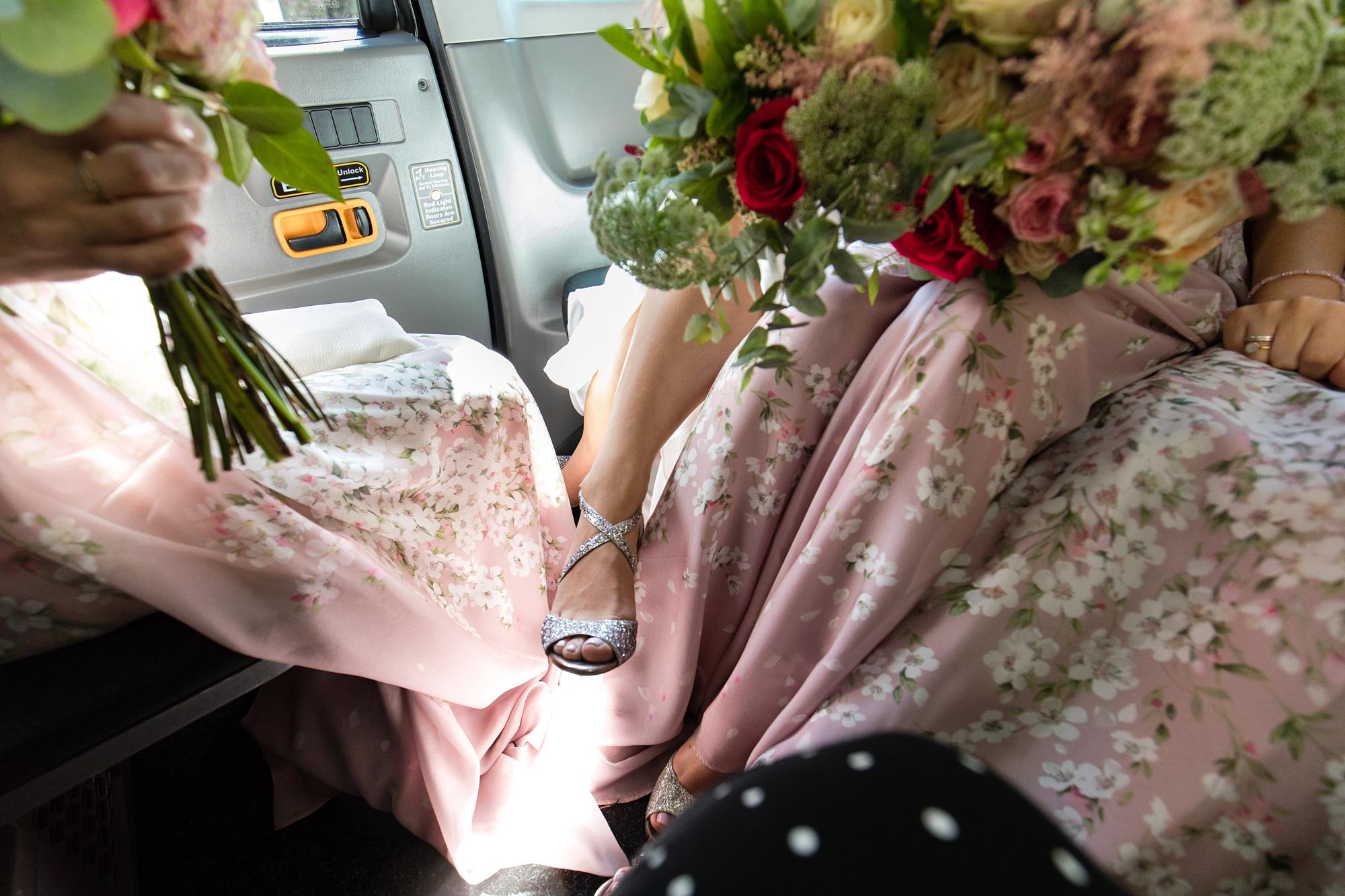 York & Albany Wedding Photography bride documentary shoe detail