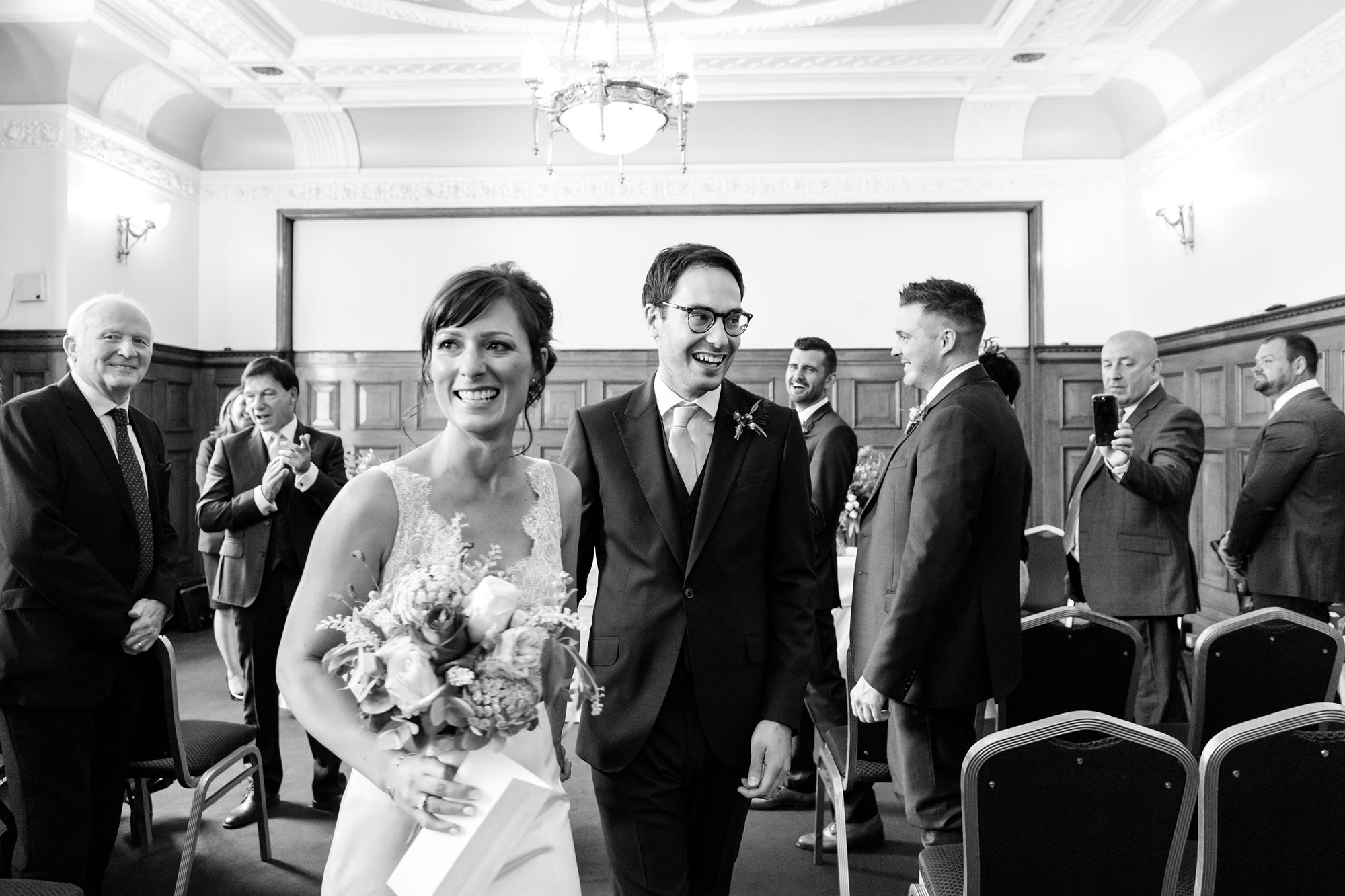 York & Albany Wedding Photography walk up aisle