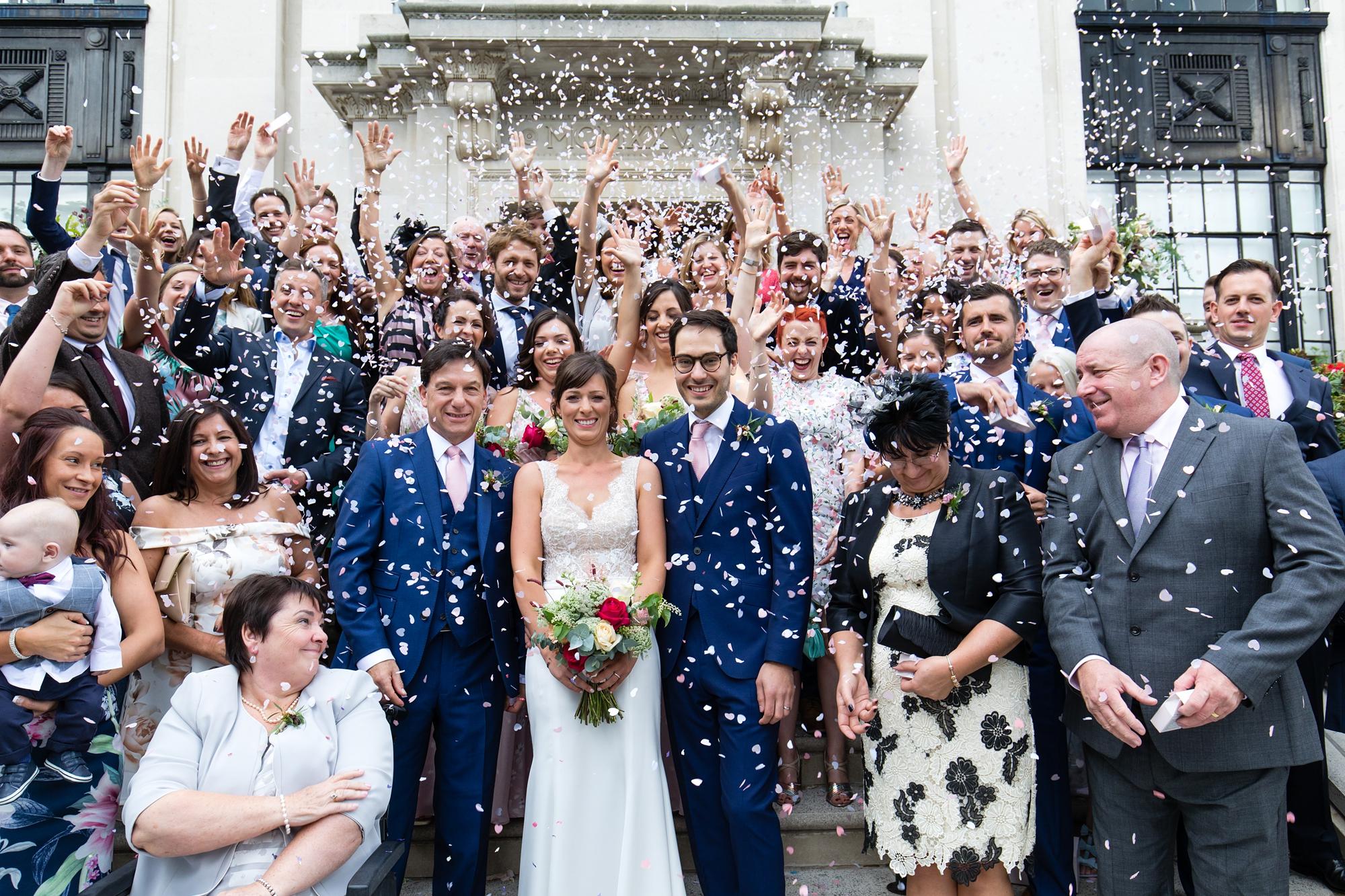 York & Albany Wedding Photography confetti