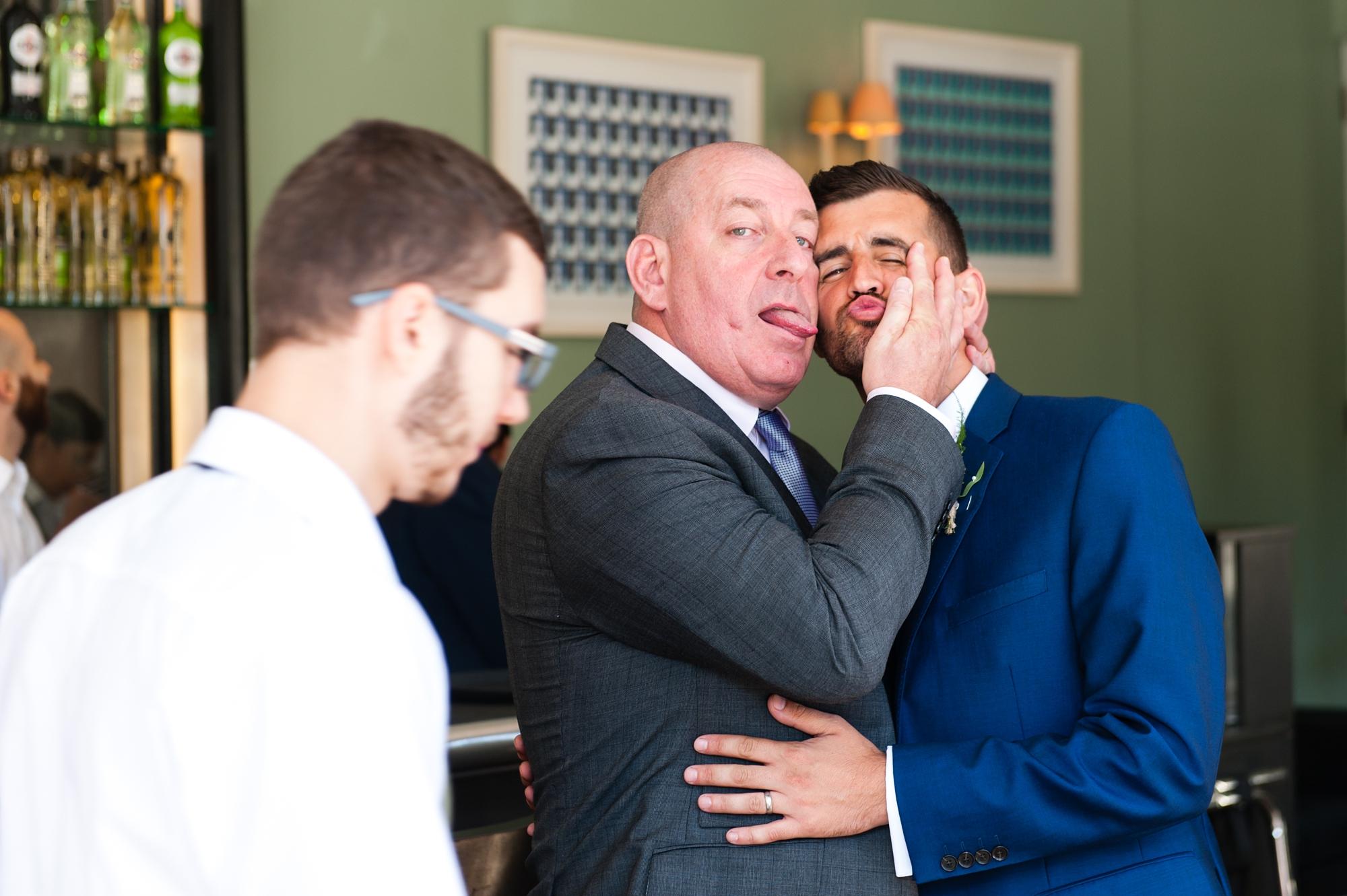 York & Albany Wedding Photography Funny groomsman
