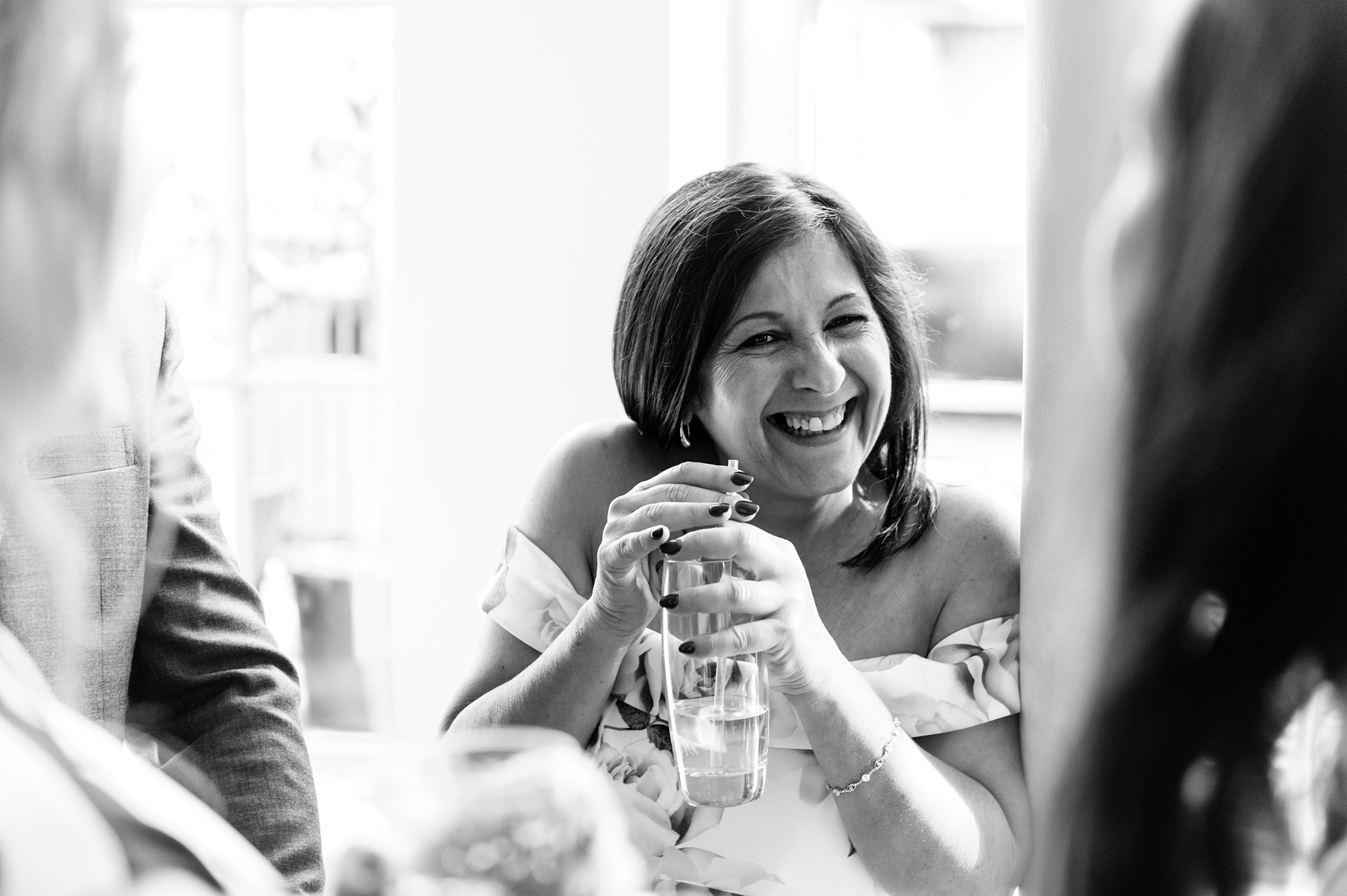 York & Albany Wedding Photography guest smiling