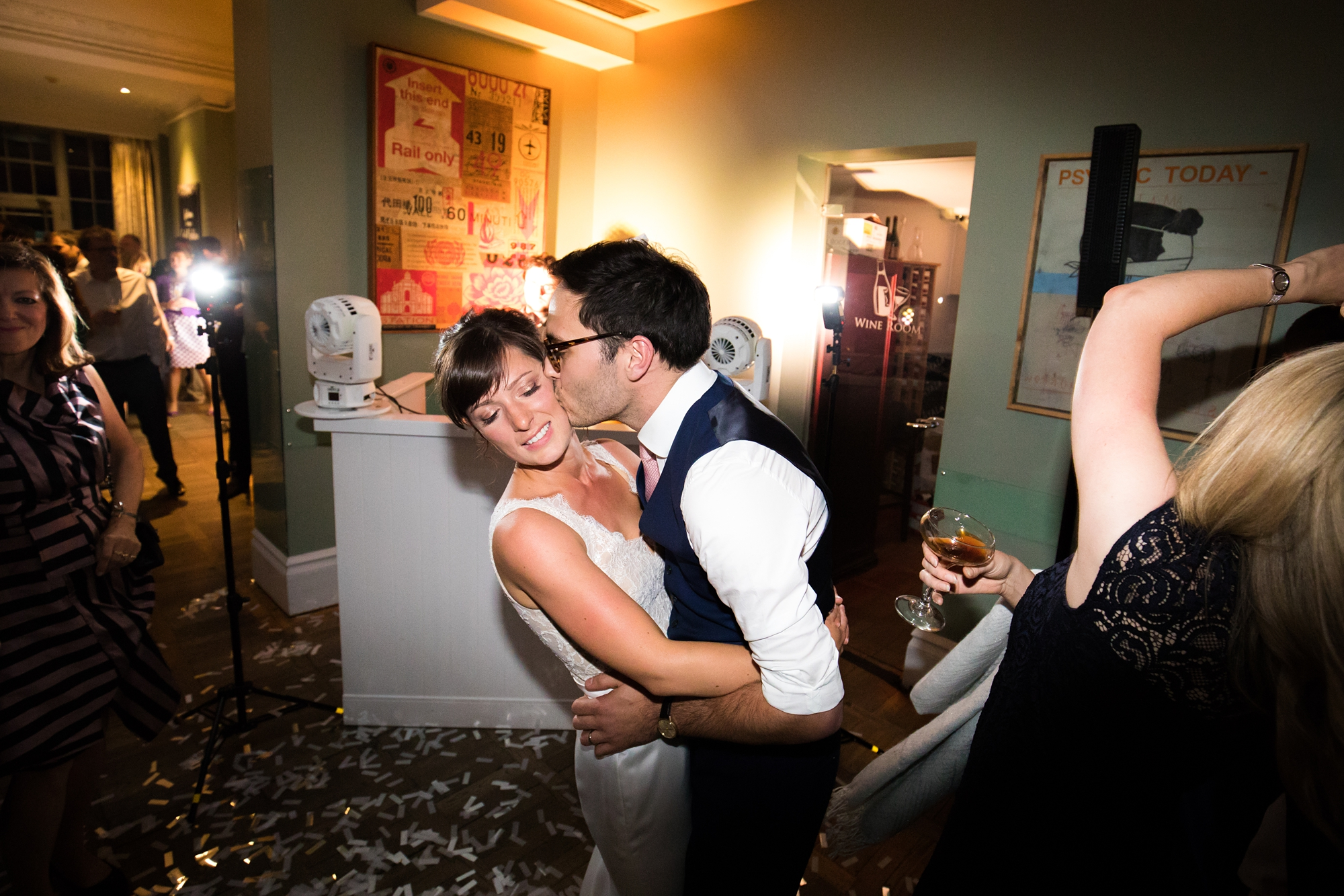York & Albany Wedding Photography first dance kiss