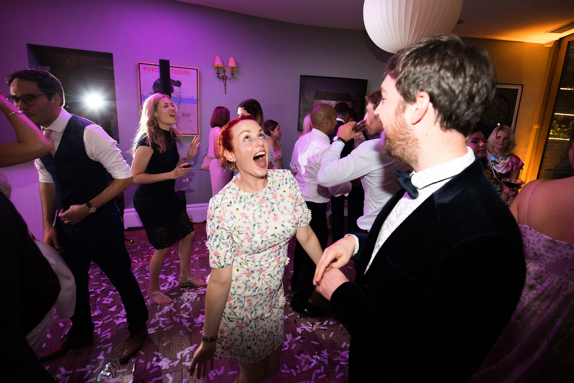 York & Albany Wedding Photography dancing party photo