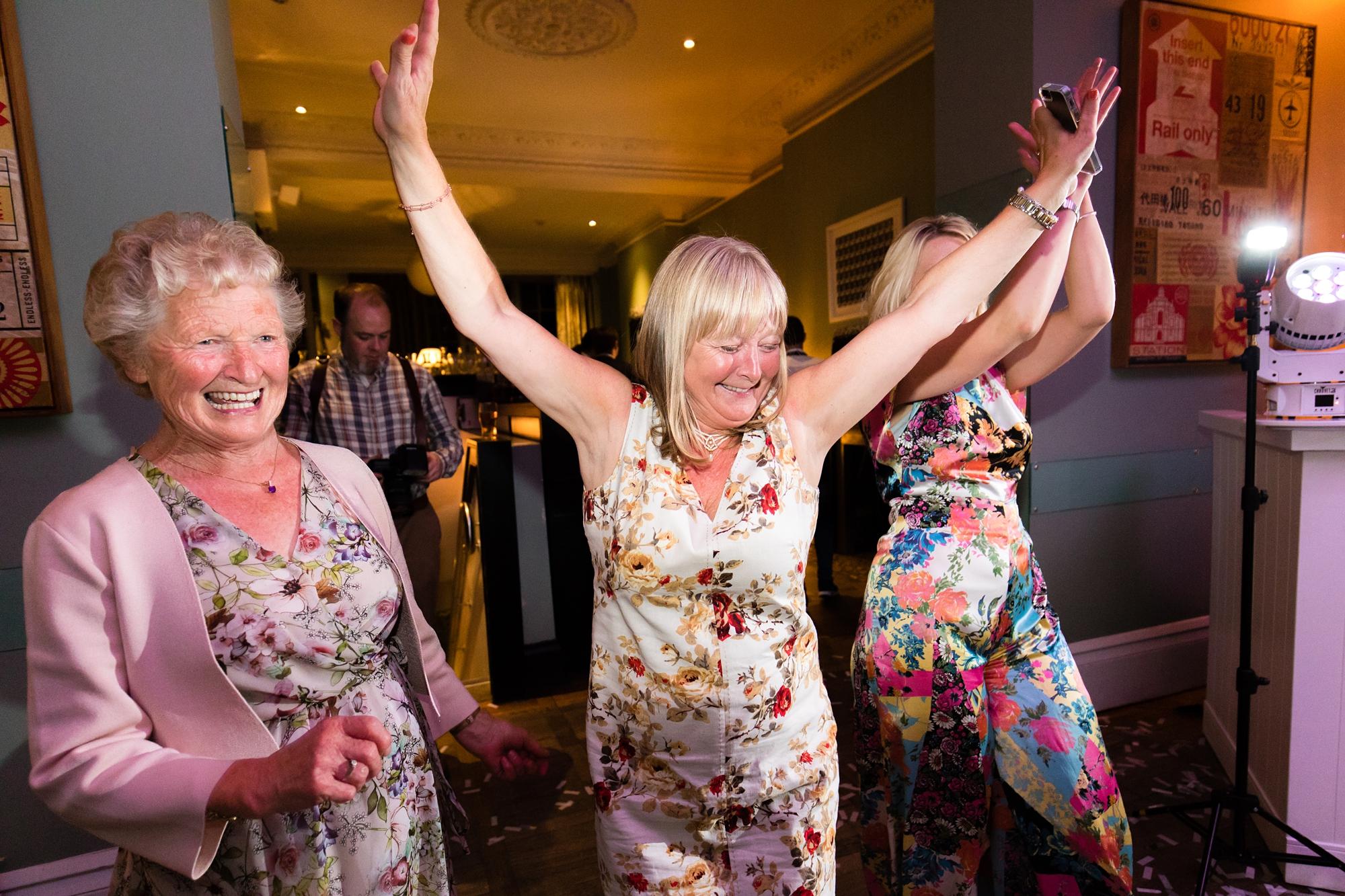 York & Albany Wedding Photography dance party disco