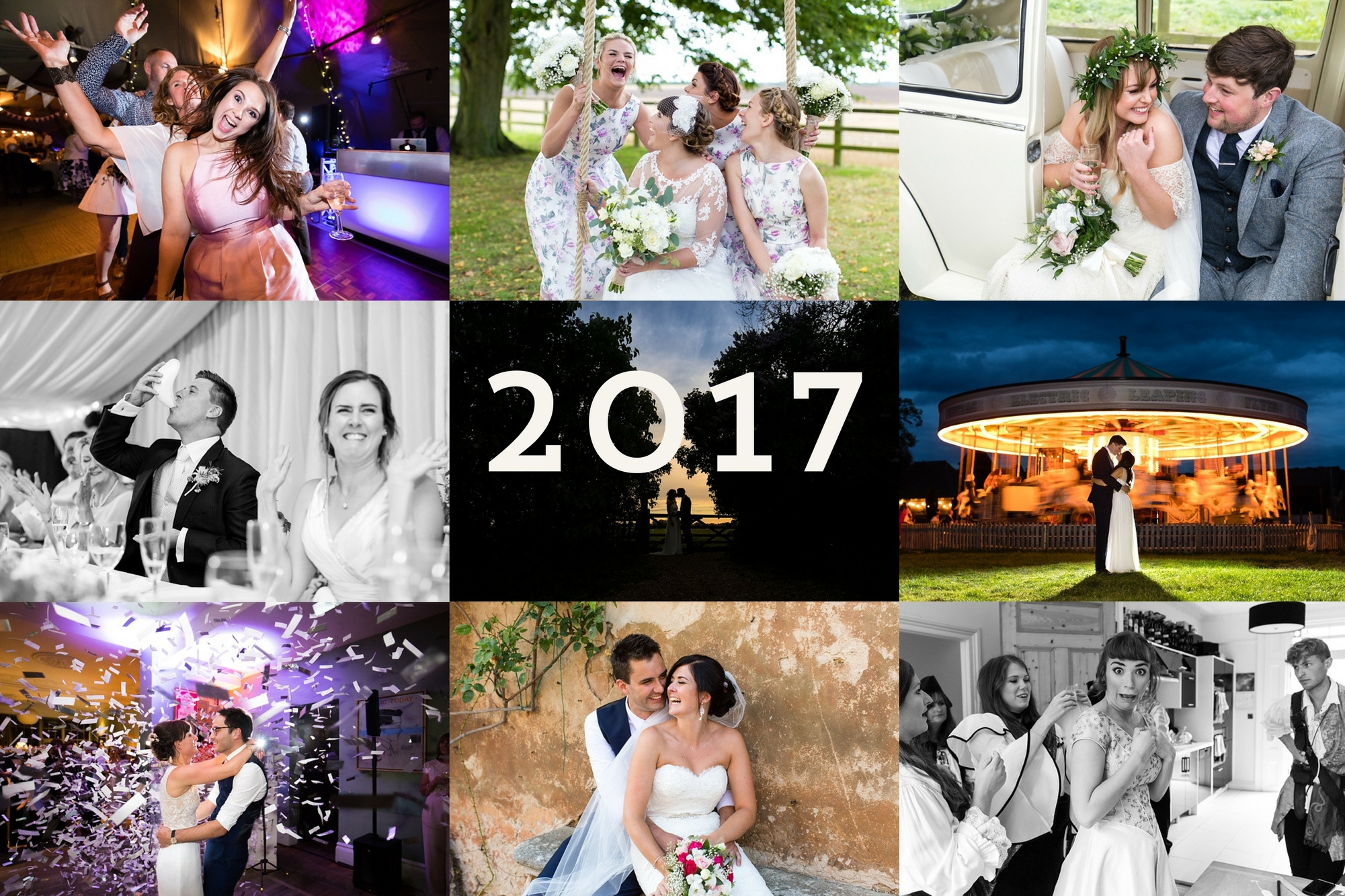 Collage of wedding photos Best York Wedding photography 2017