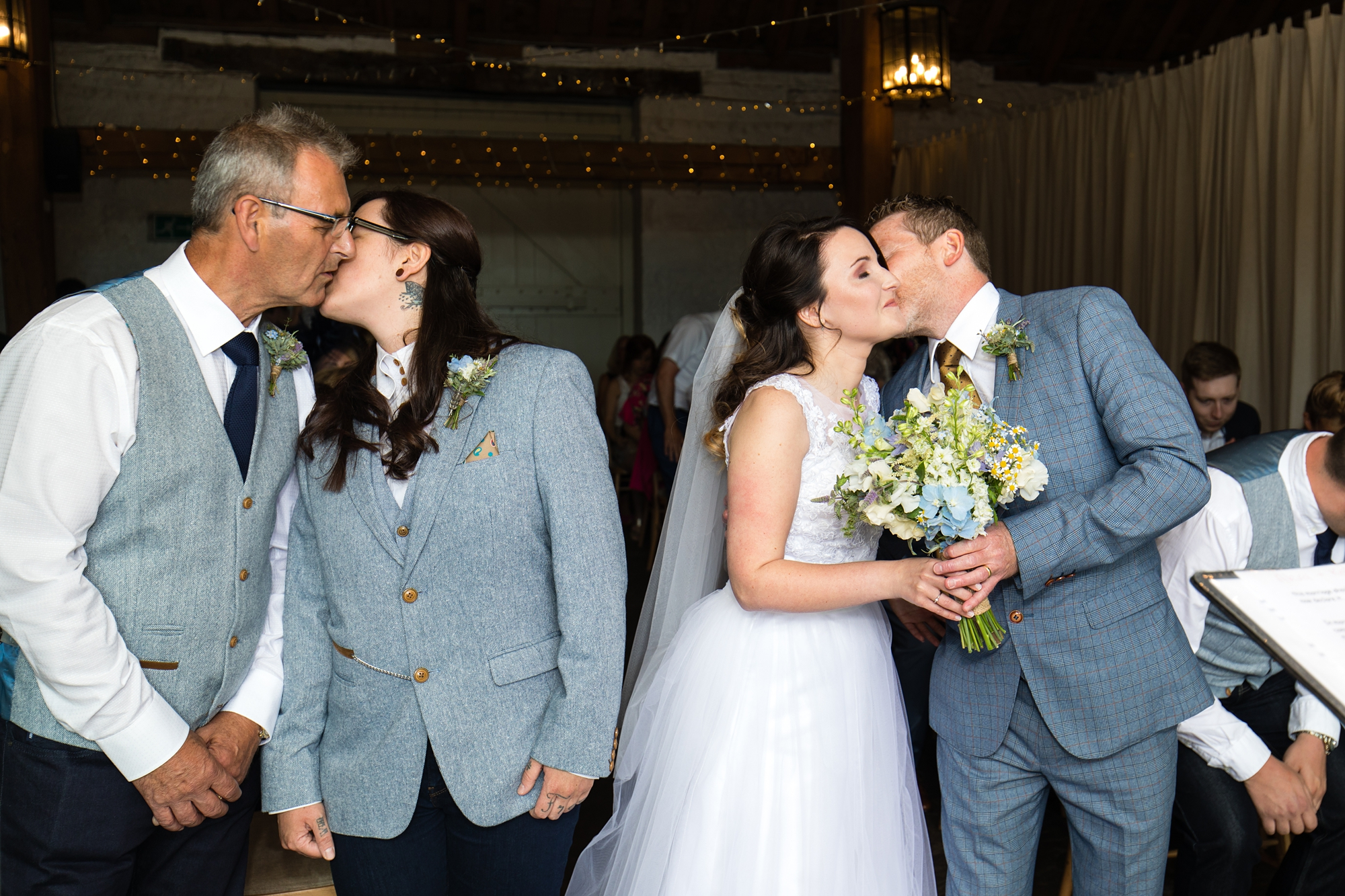 Same sex brides given away by dad york wedding photography