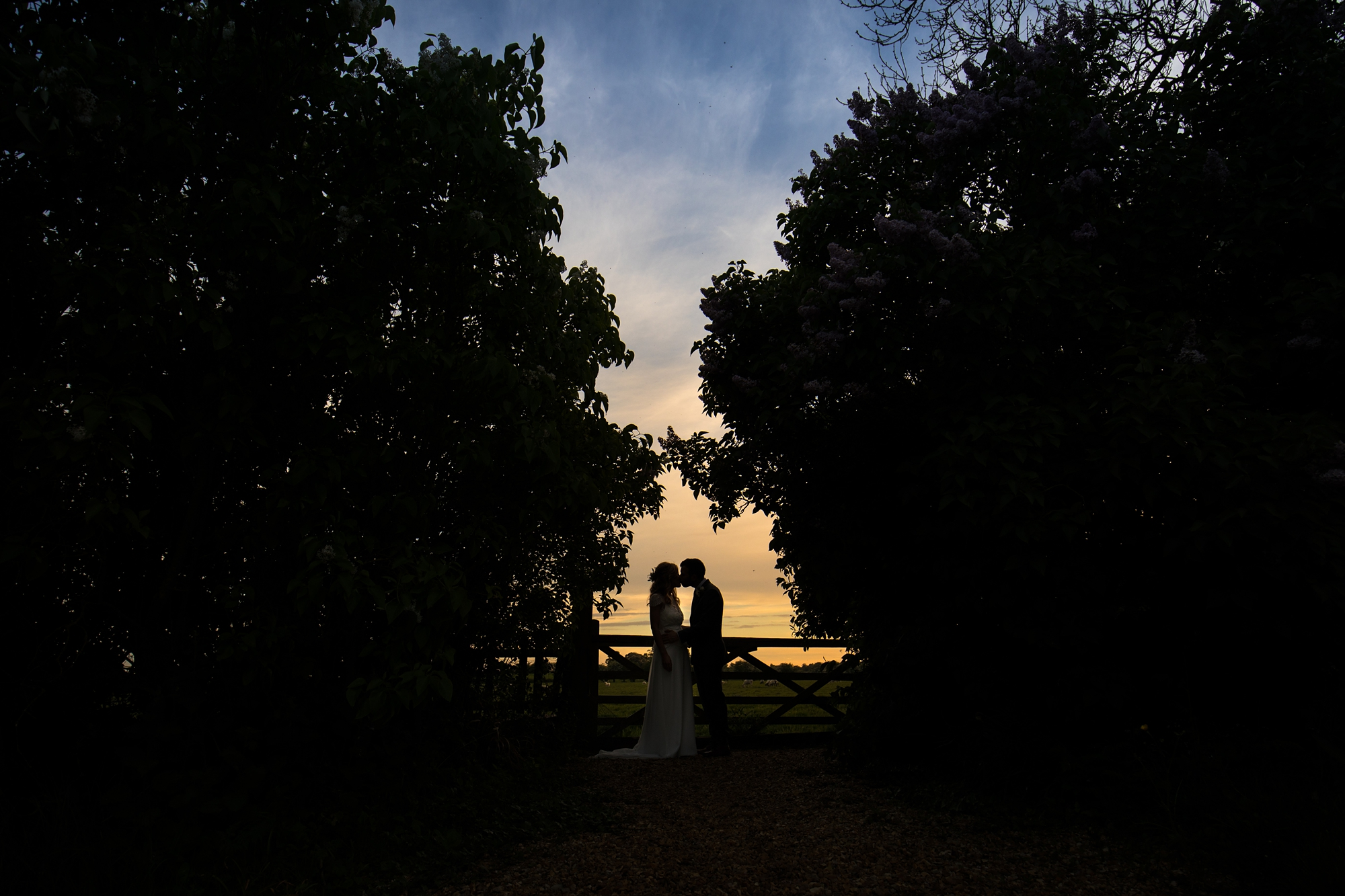 Best york wedding photography sunset silhouette