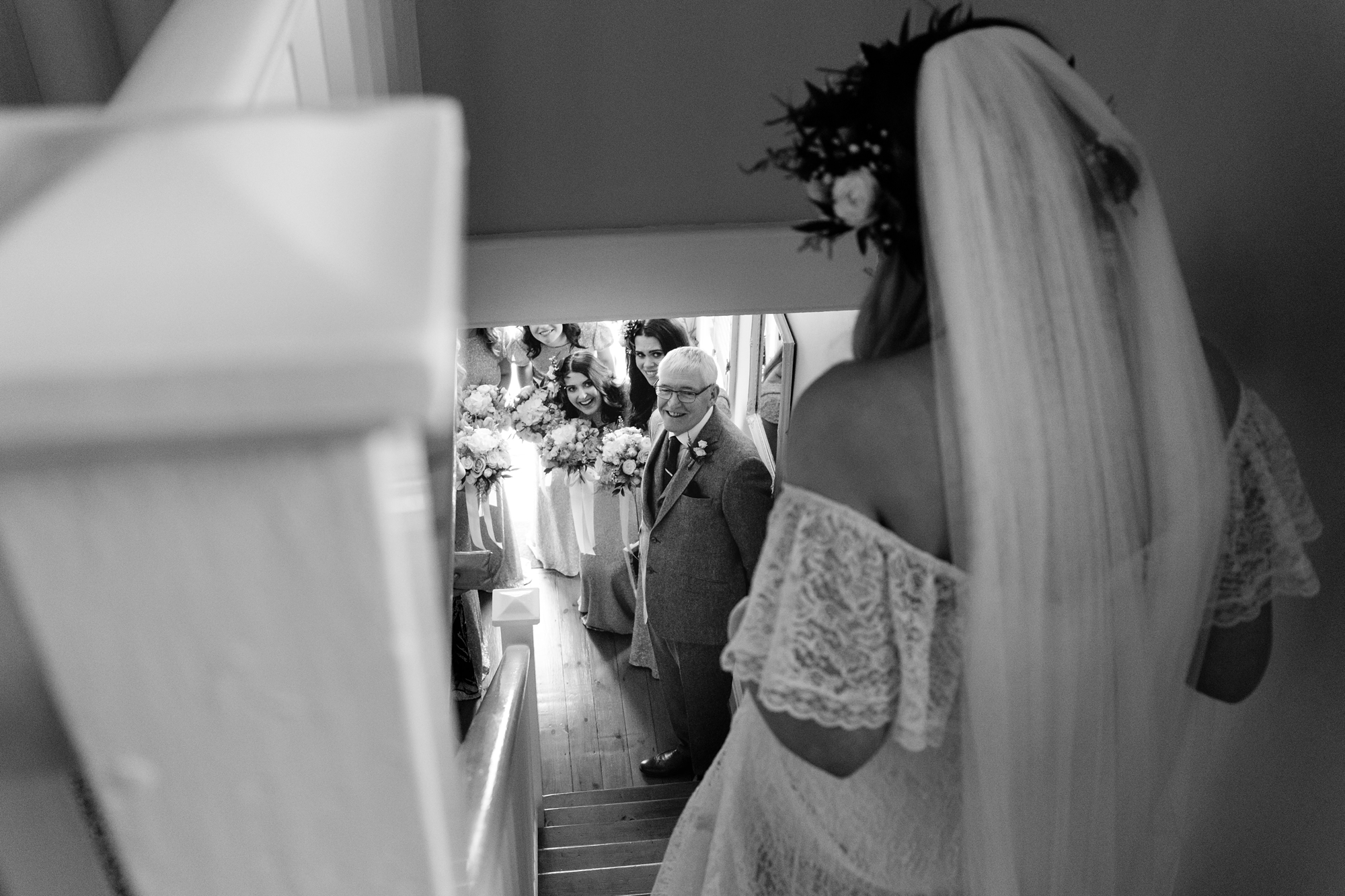 Best york wedding photography bride sees dad for first time