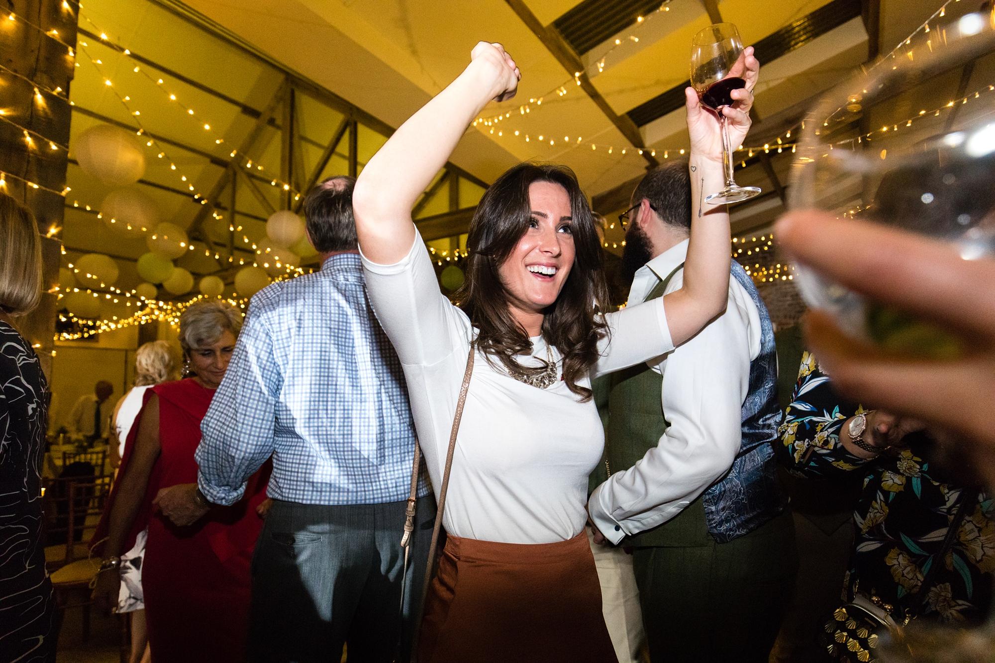 York Wedding Photography at Barmbyfield Barns dancing party photograph