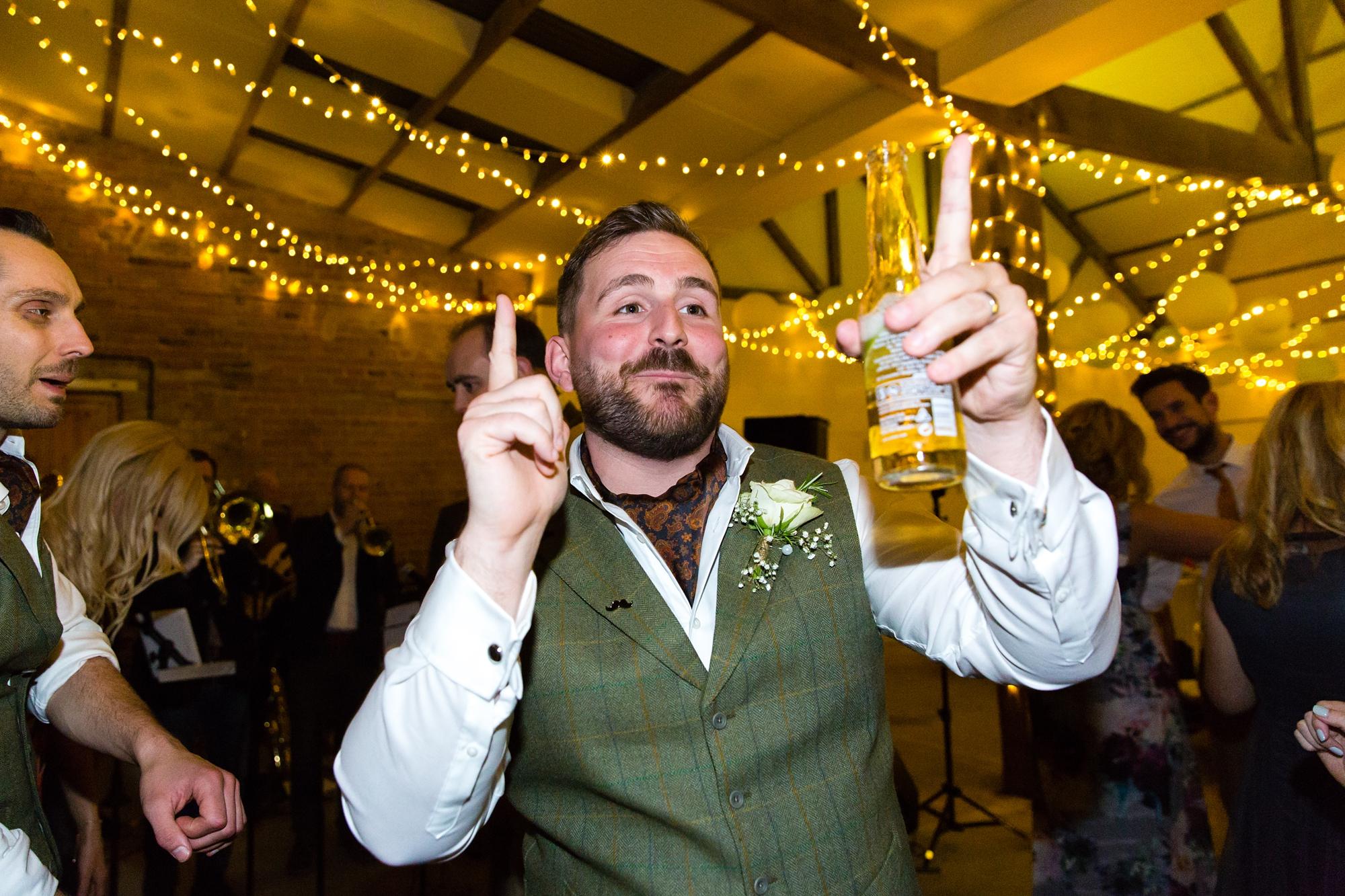 Dancing & partying at York Wedding Photography at Barmbyfield Barns