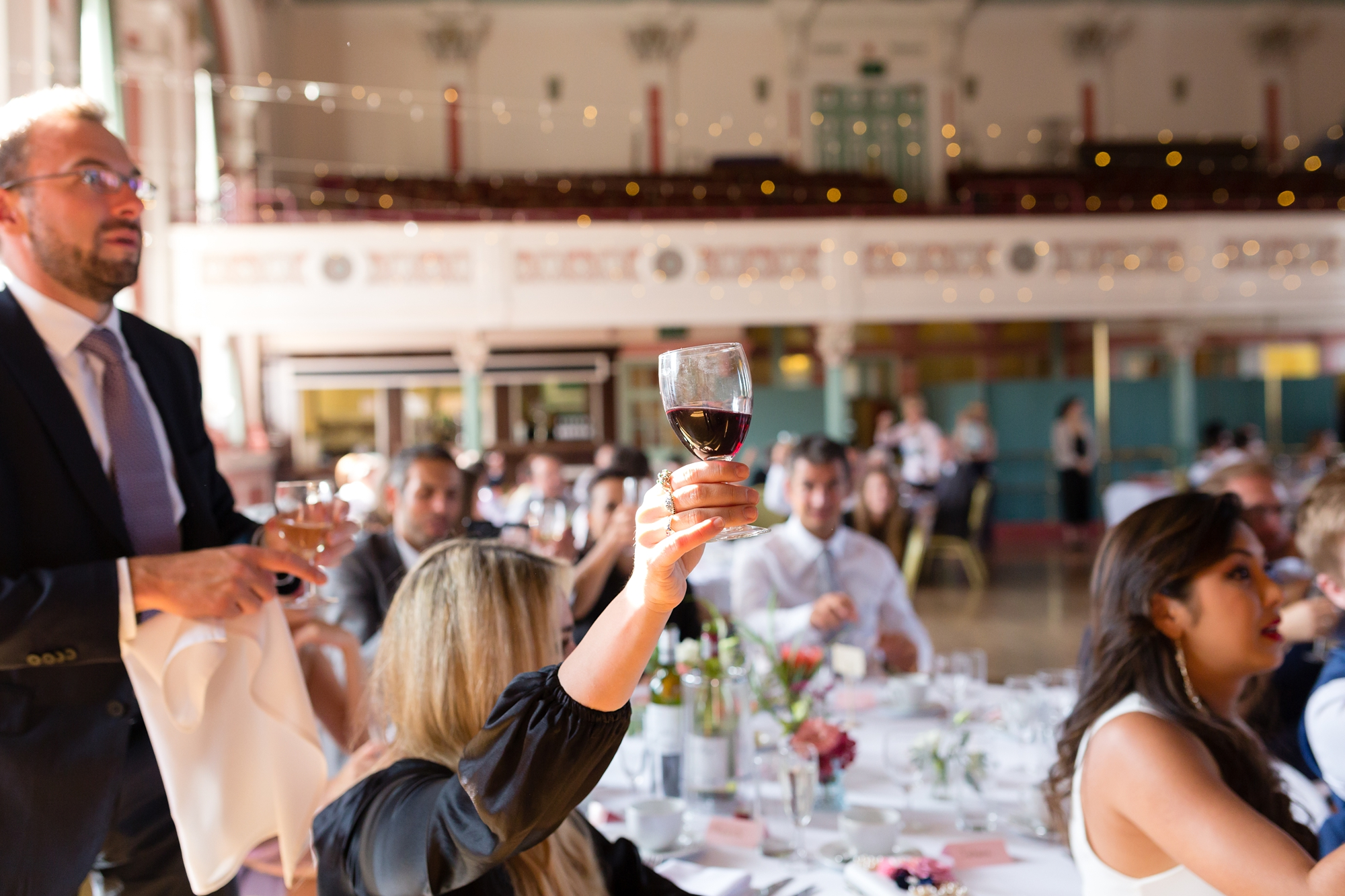 Guest toasting A fun Yorkshire Wedding