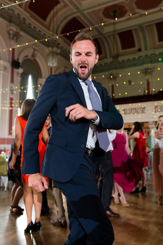 A fun Yorkshire Wedding dancing photograph