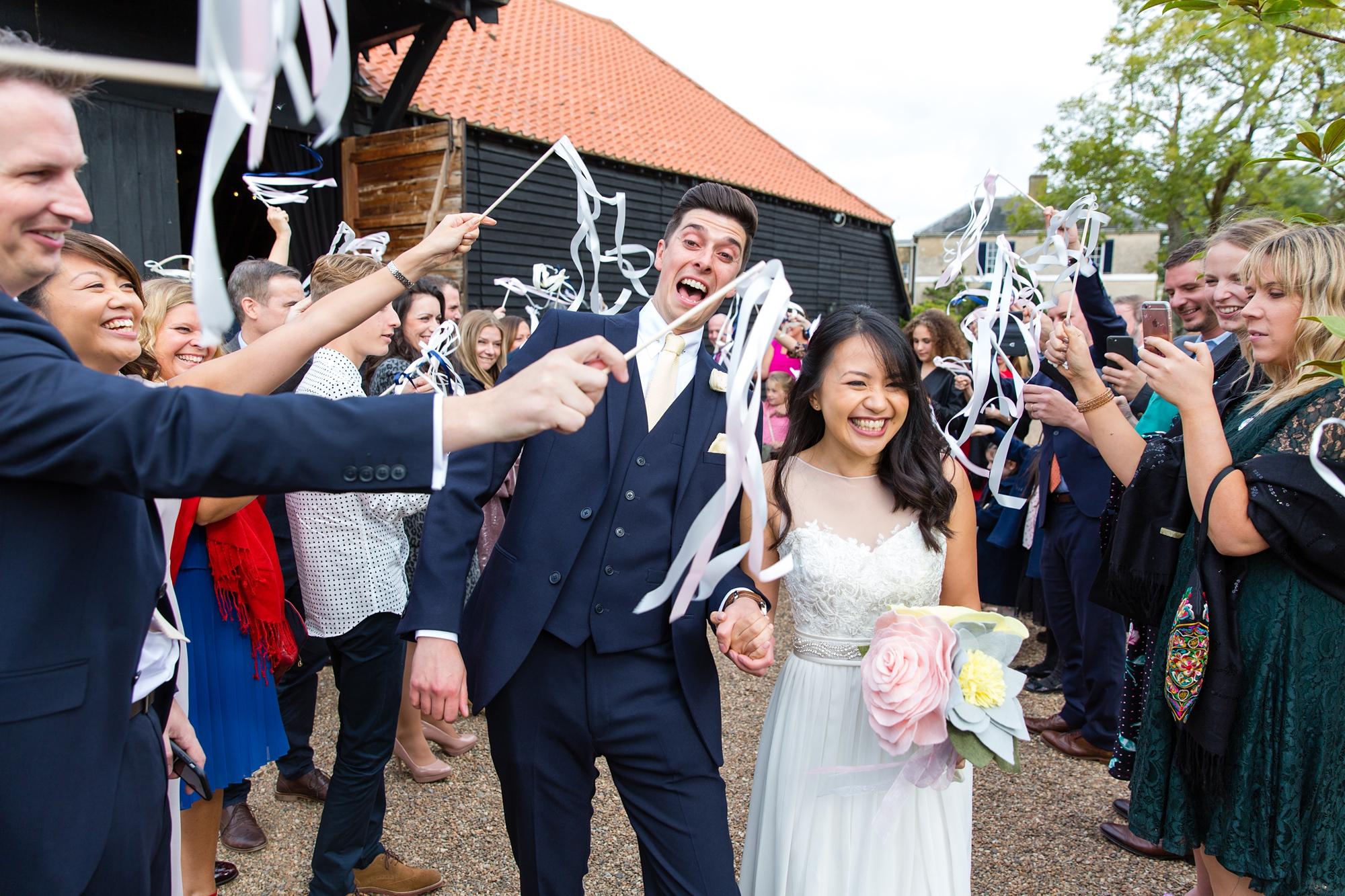 Ribbon Want exit at wedding
