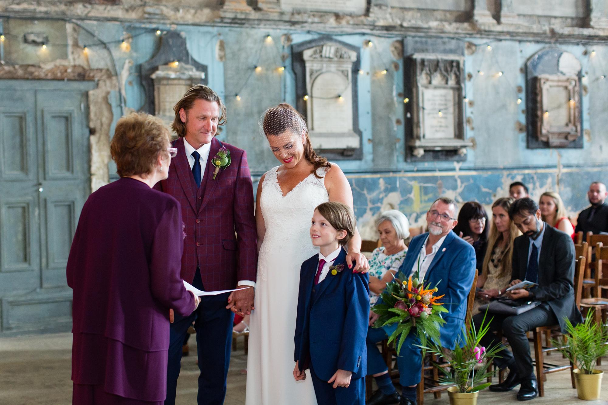 Son in wedding ceremony at Asylum in London