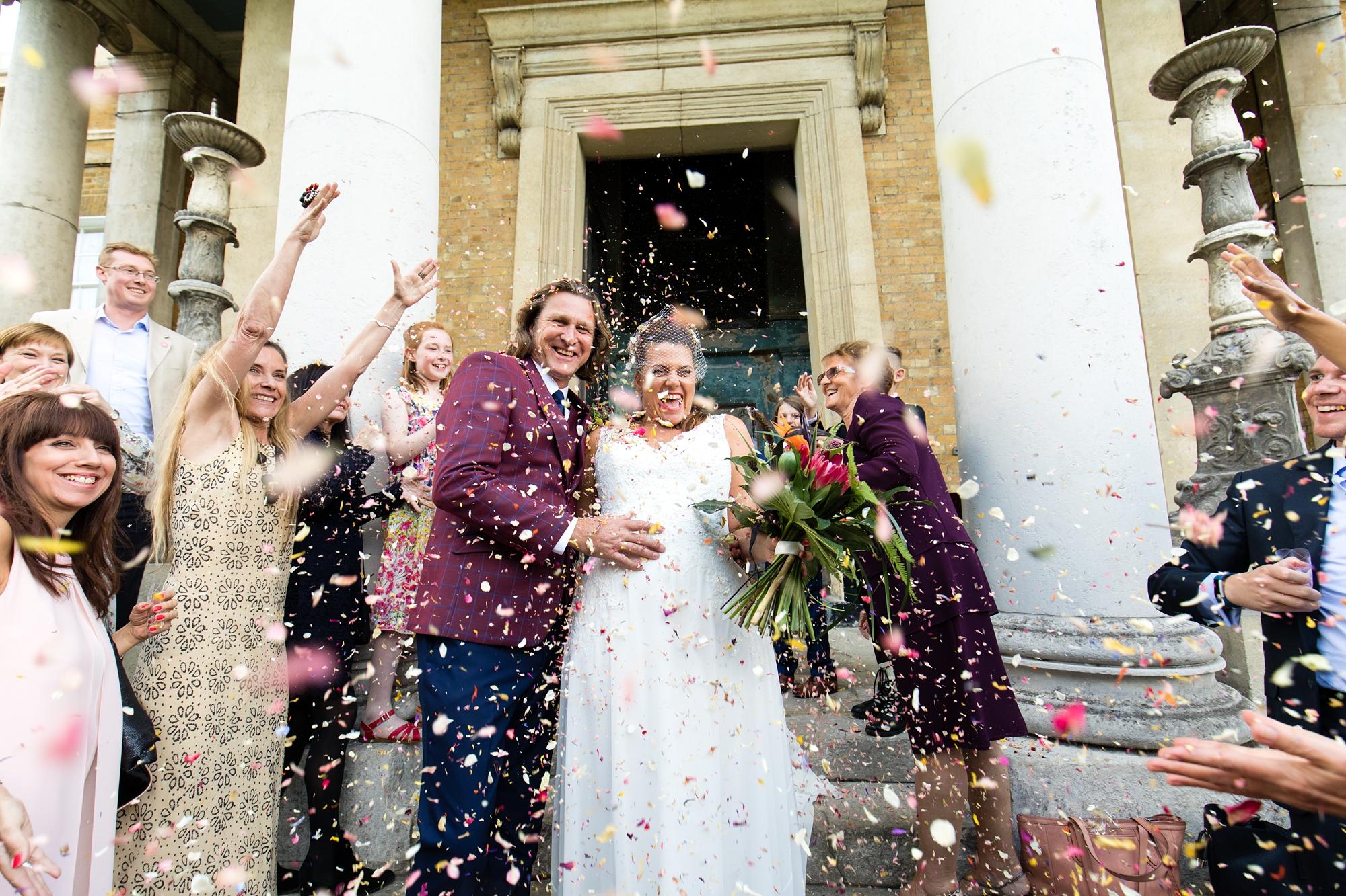 Confetti at Asylum wedding in London