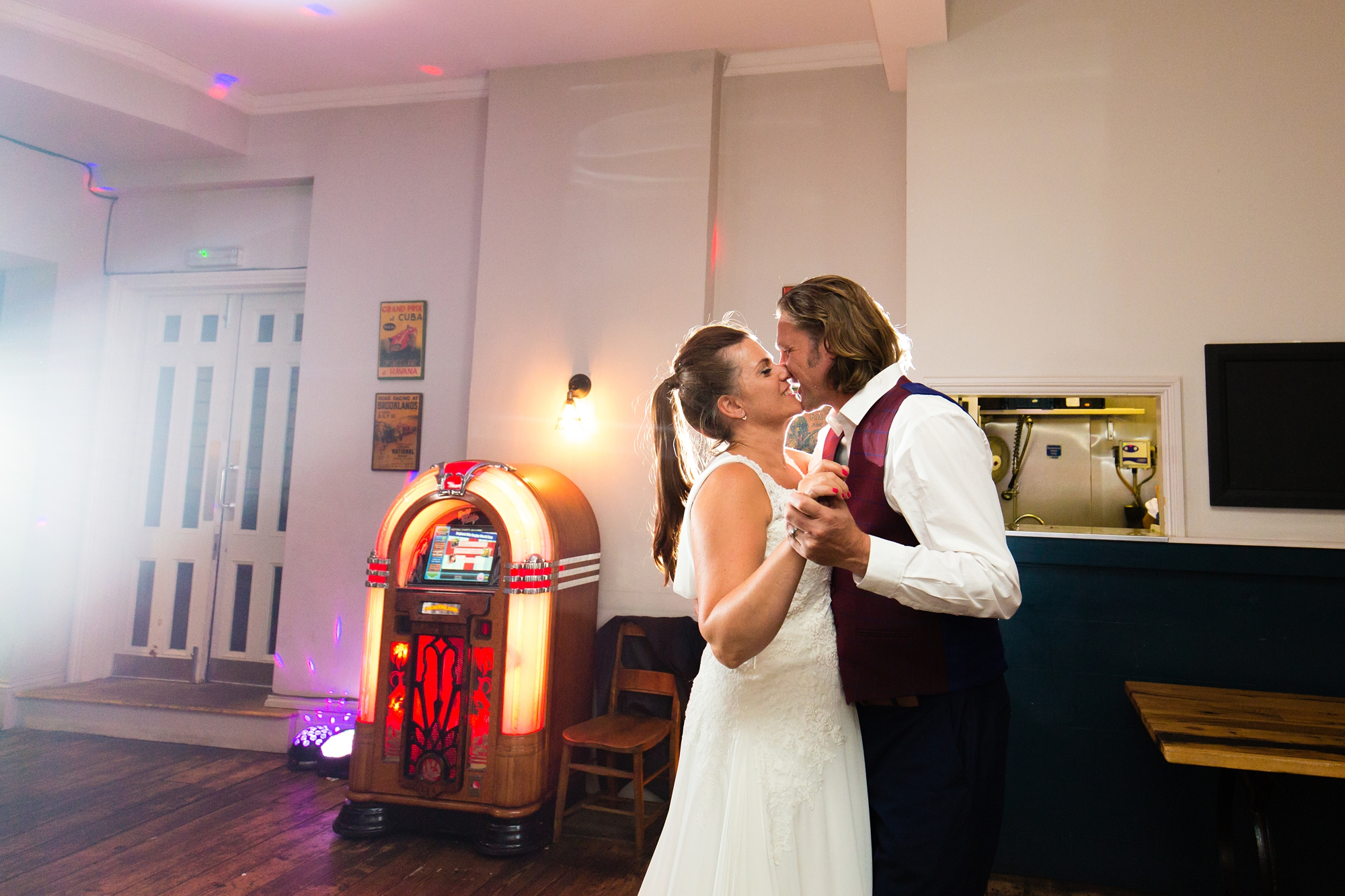 First dance in front of vintage juke box