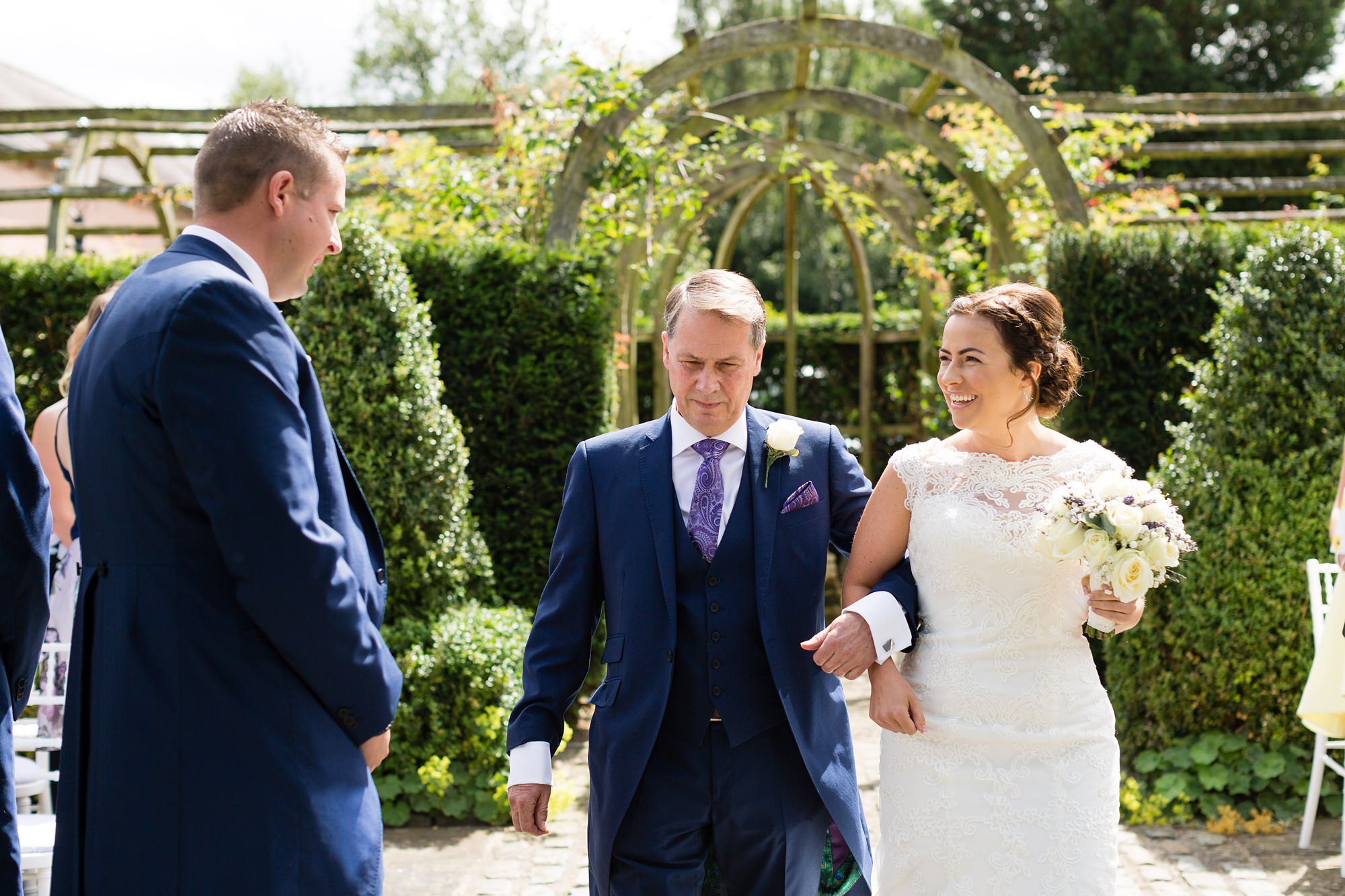 Bell Hall Wedding Photography outdoor wedding ceremony in Yokrshire