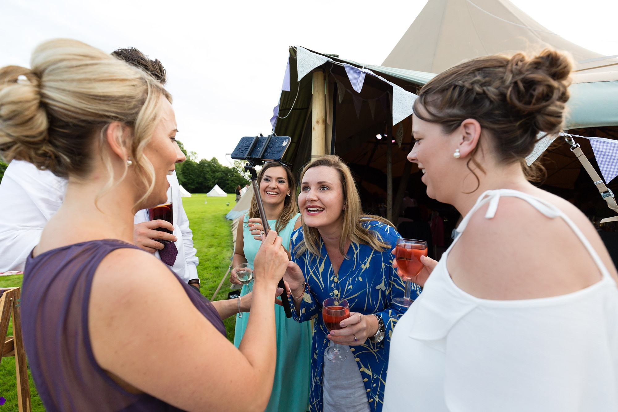 Bell Hall Wedding Photography guests having a great time