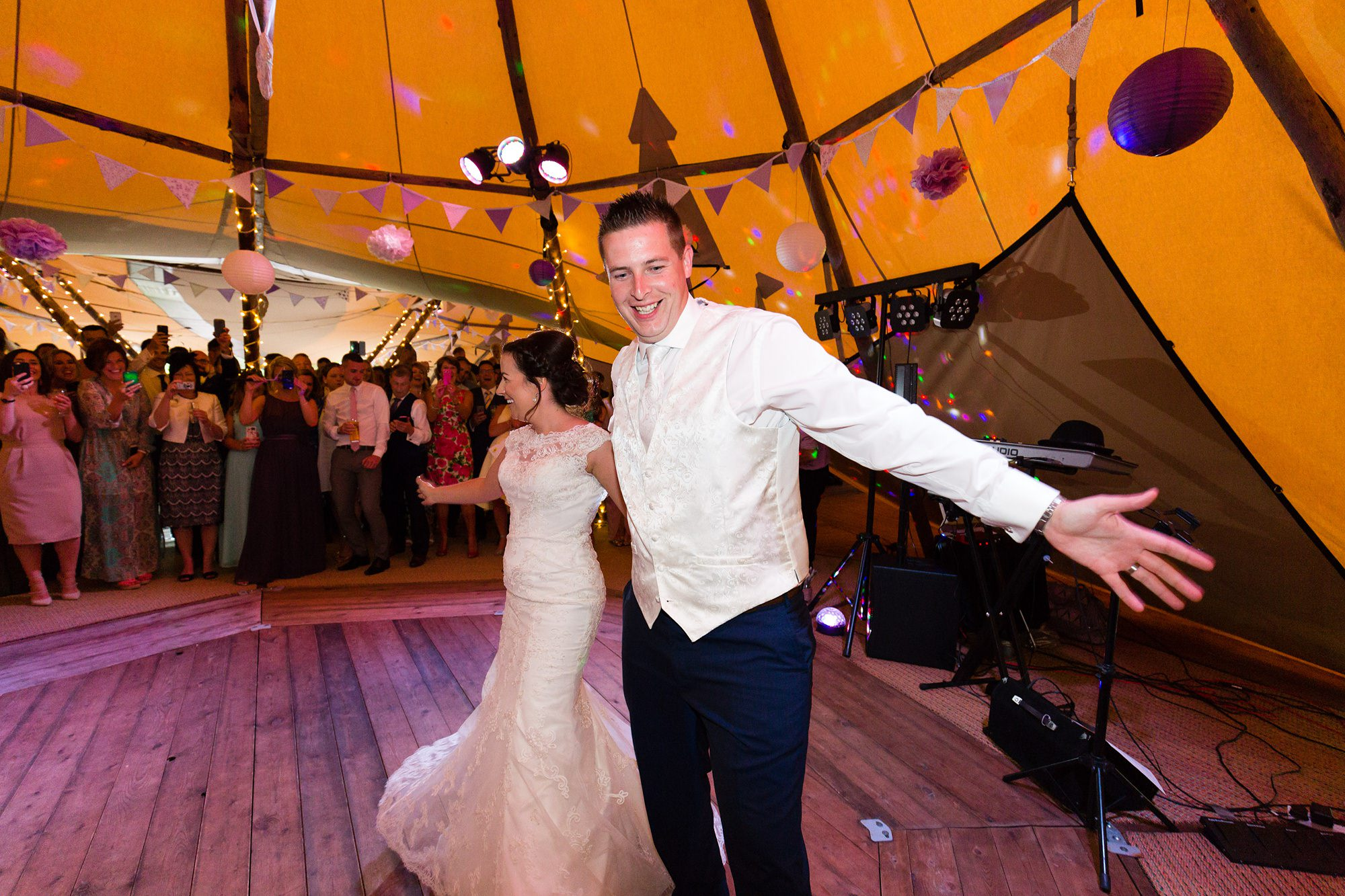 Bell Hall Wedding Photography elaborate first dance