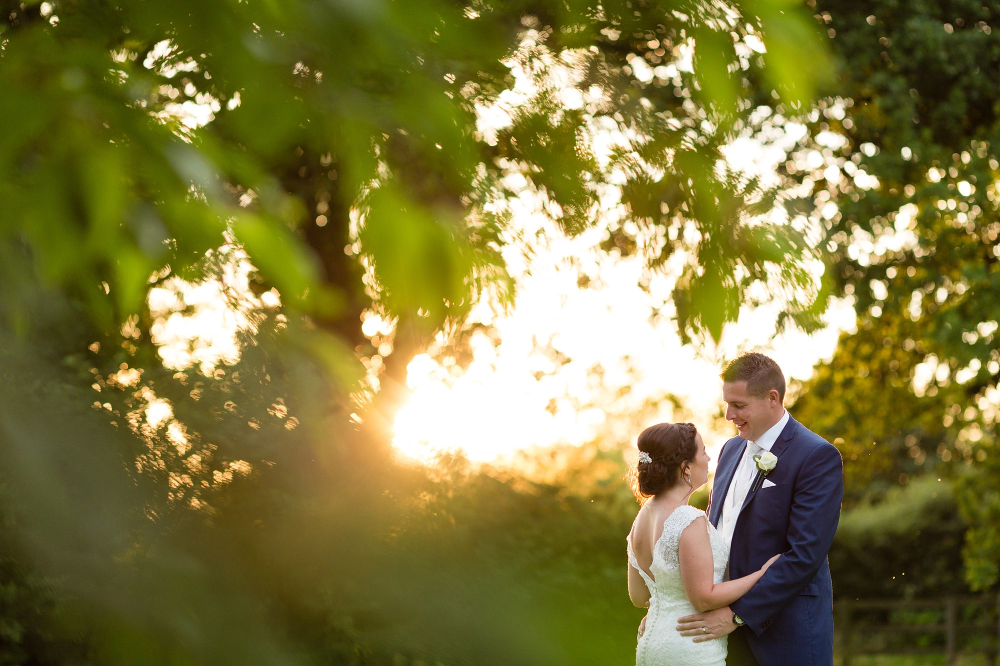 Yorkshire Wedding Photography couple kissing in the sunset