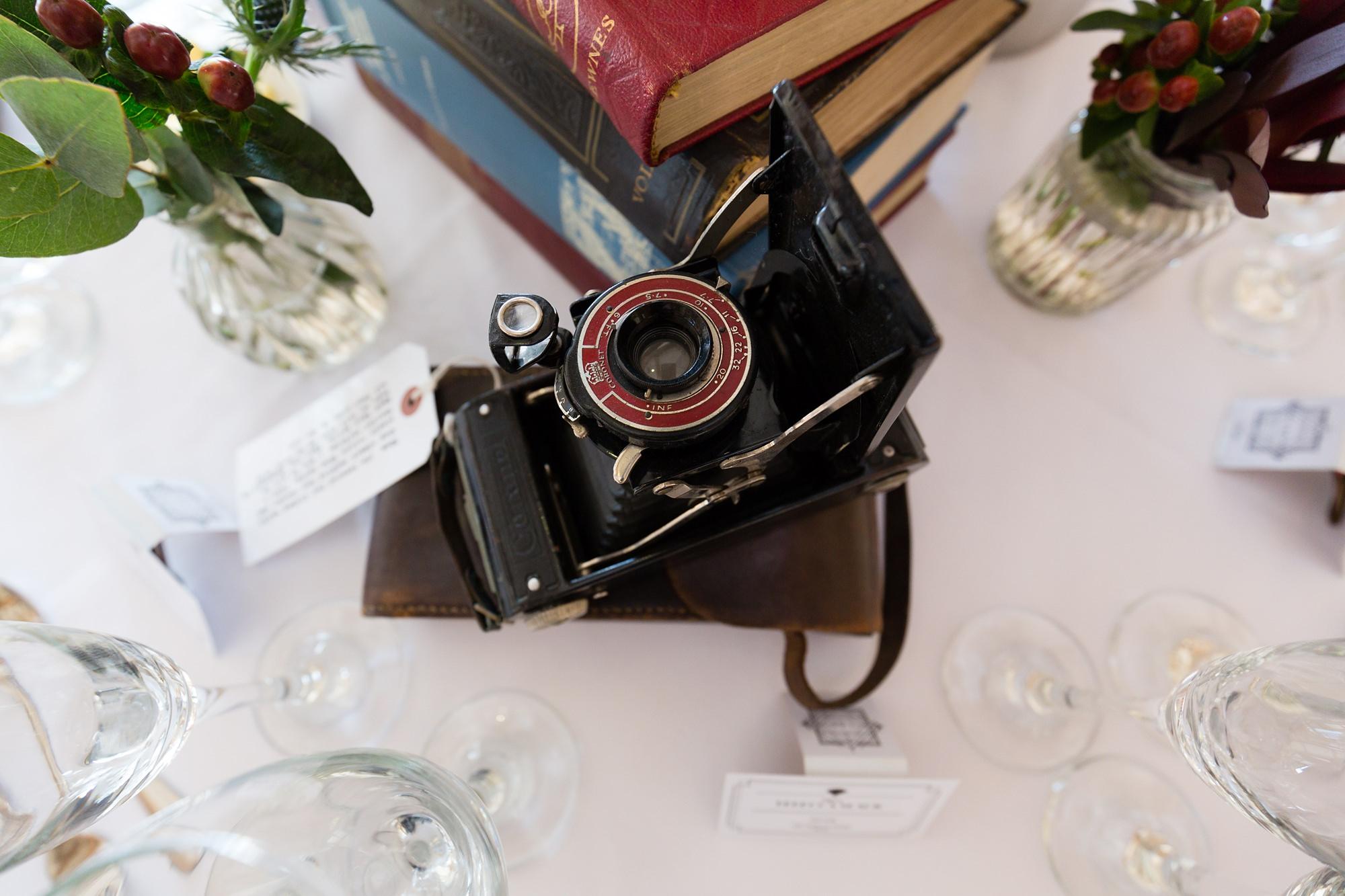 Detetctive Novel 1920's wedding theme vintage camera