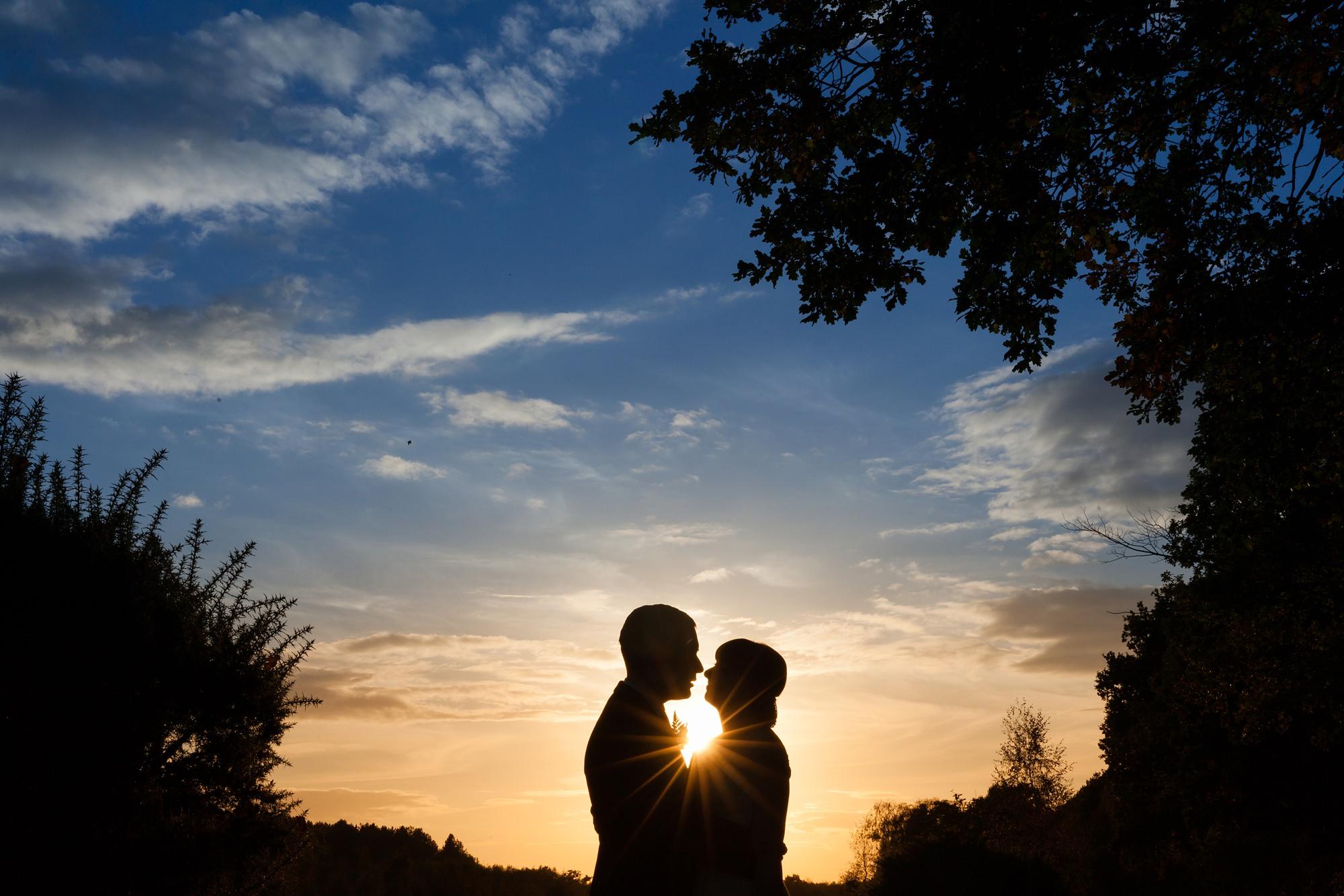 Sandburn Hall Wedding Photography Sunset on the golf course