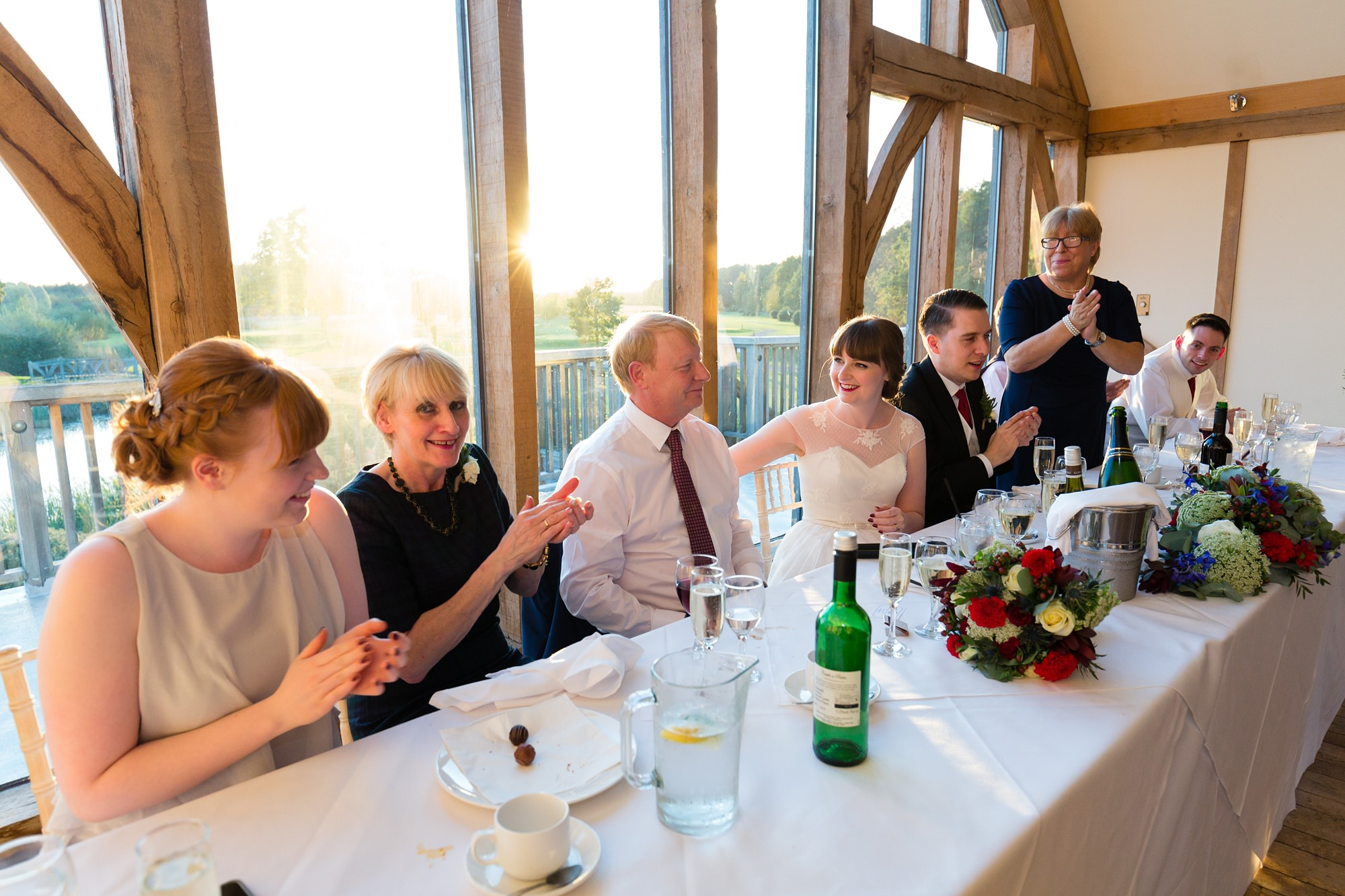 Sandburn Hall Wedding Photography speeches